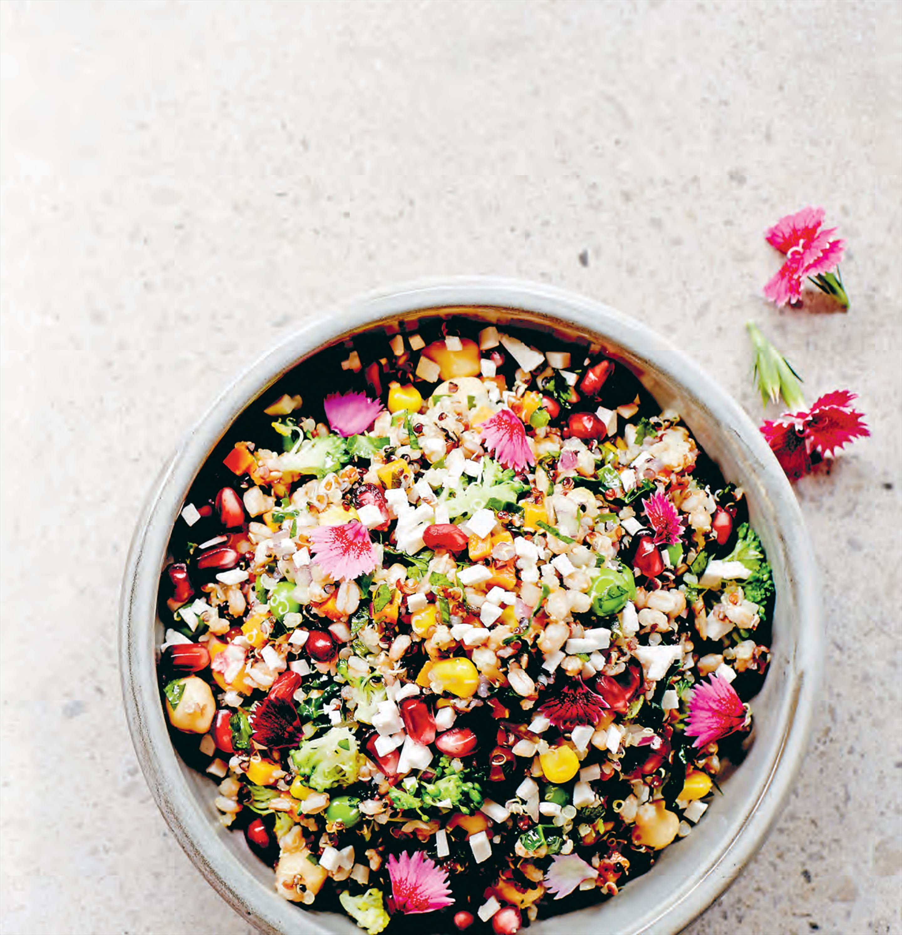 Ancient grain seven vegetable superfood salad
