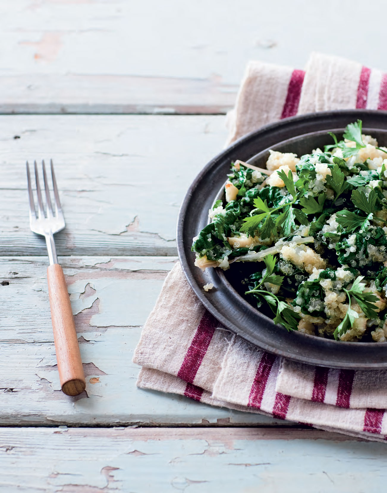 Quinoa with silverbeet