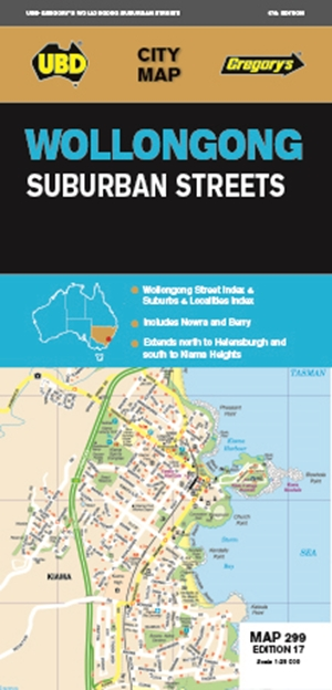 Wollongong Suburban Streets Map 299 17th ed