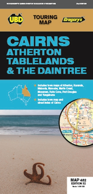 Cairns Atherton Tablelands & The Daintree Map 482 32nd