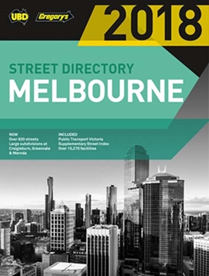 Melbourne Street Directory 2018 52nd ed