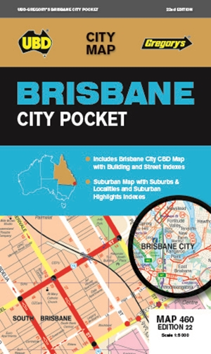 Brisbane City Pocket Map 460 22nd