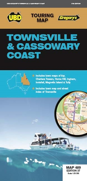Townsville & Cassowary Coast Map 489 37th ed