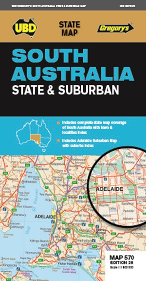 South Australia State & Suburban Map 570 28th