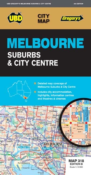 Melbourne Suburbs & City Centre Map 318 8th ed