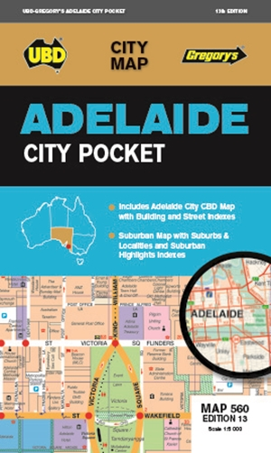 Adelaide City Pocket Map 560 13th ed