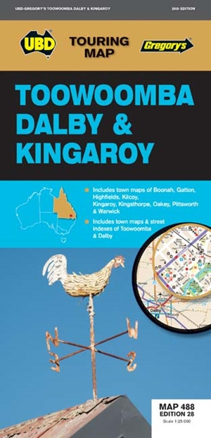 Toowoomba Dalby & Kingaroy Map 488 28th ed
