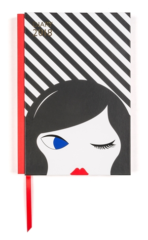 Lulu Guinness: Doll Face A5 2018 Diary