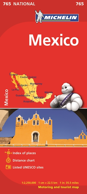 Michelin Map Mexico 765