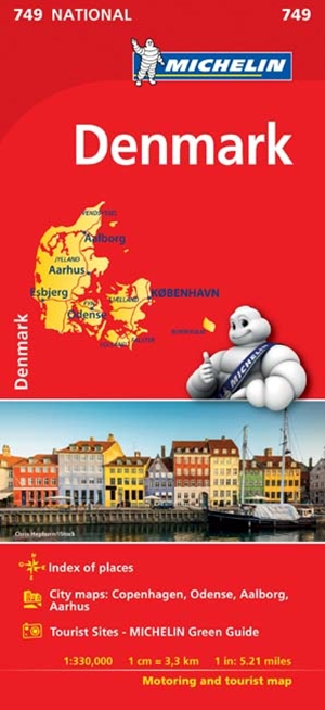 Michelin Denmark Map 2017