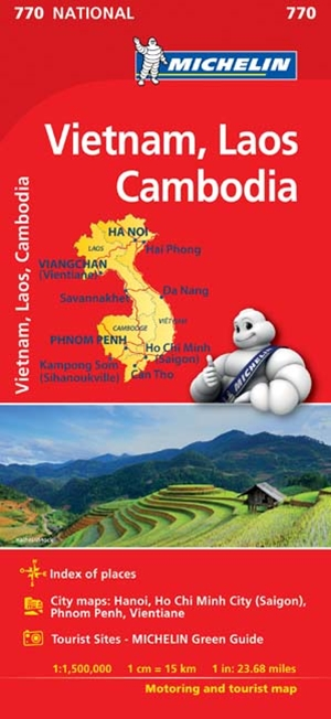 Michelin Vietnam Laos Cambodia Map 2017