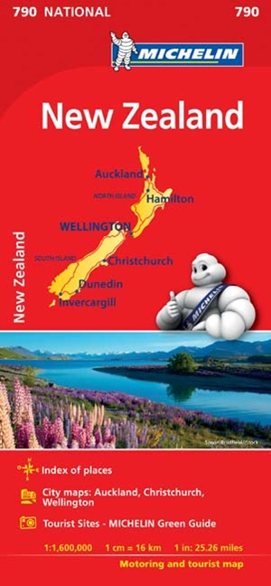 Michelin New Zealand Map 2017