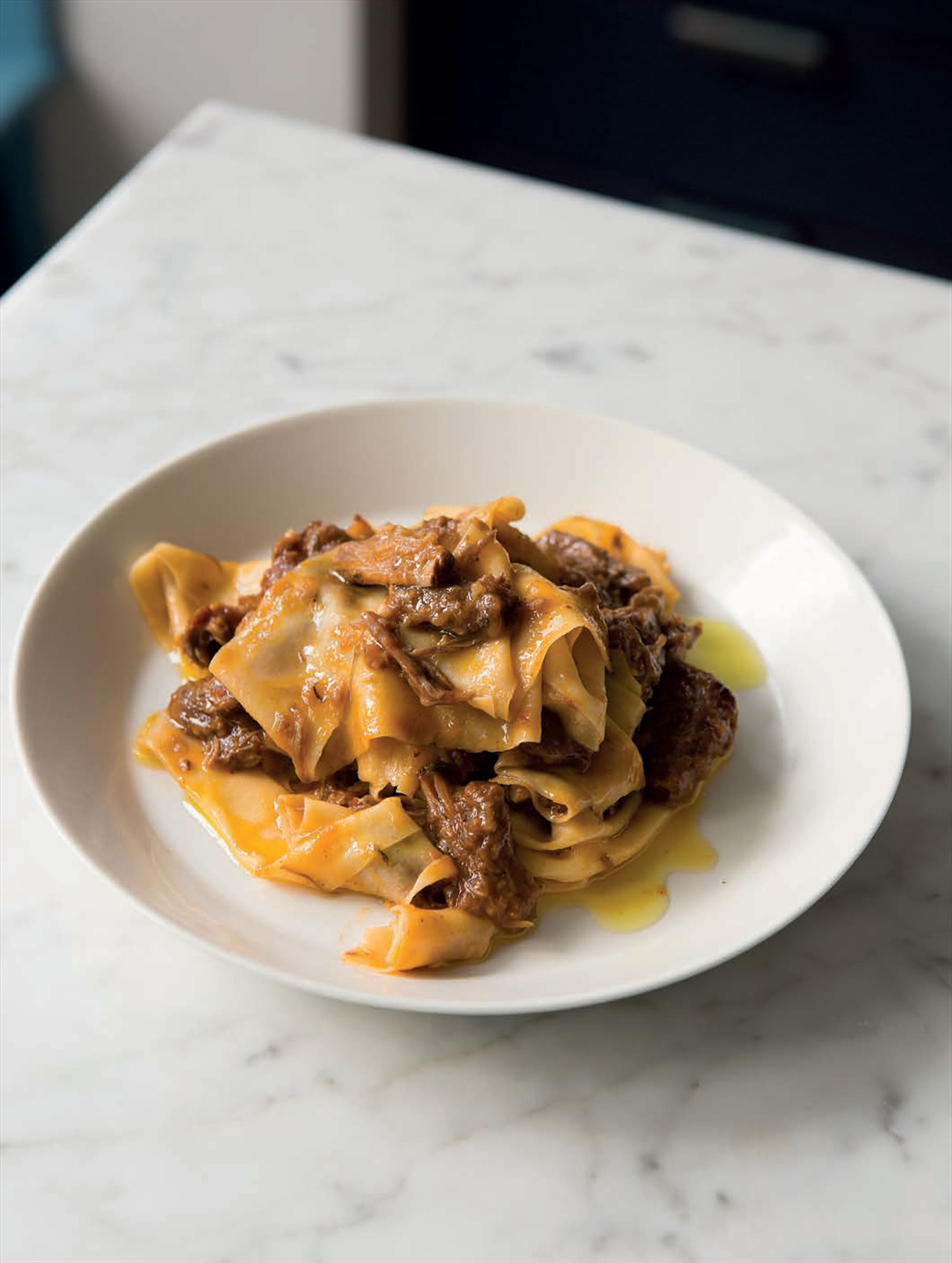 Pappardelle with oxtail ragu