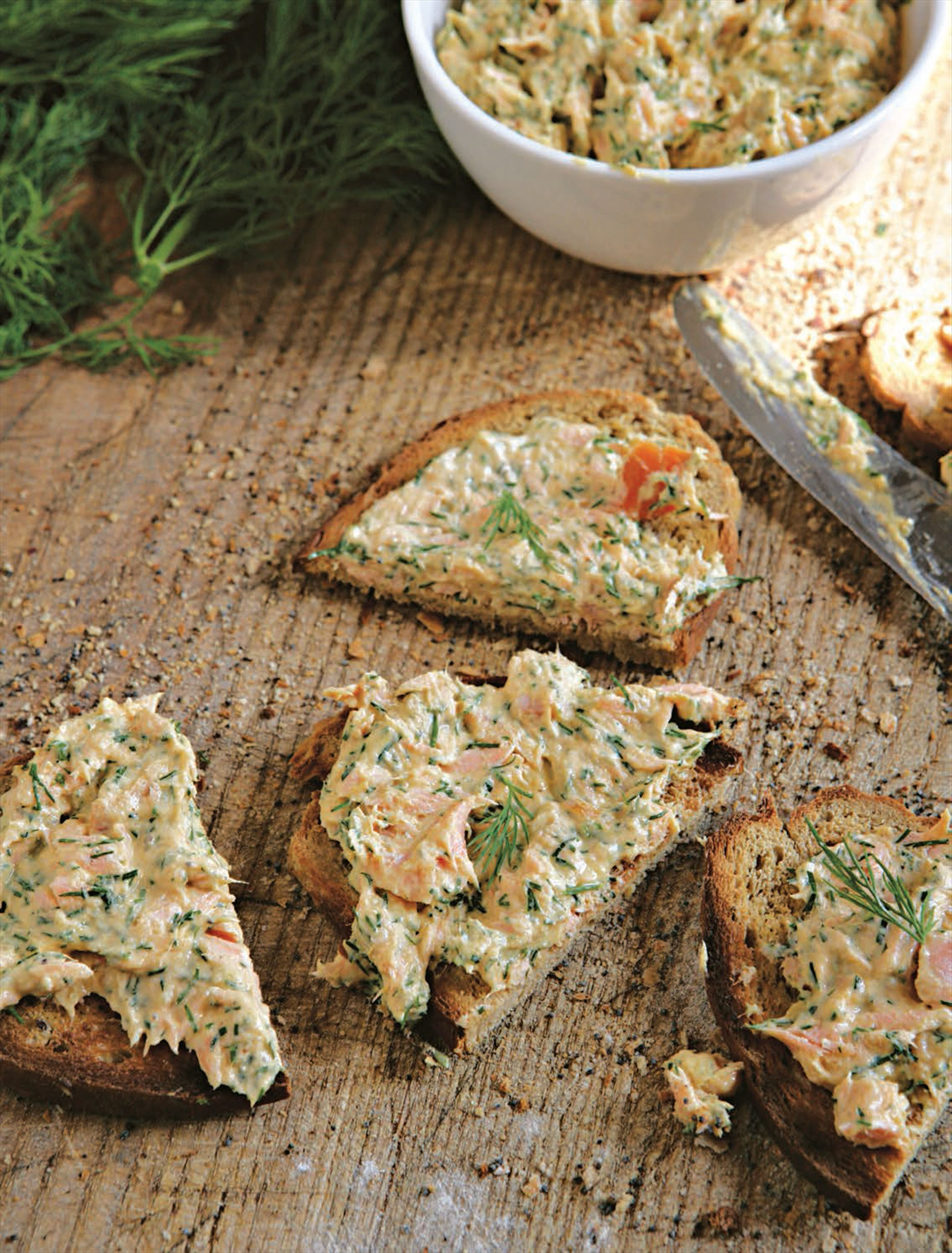 Hot-smoked trout pâté