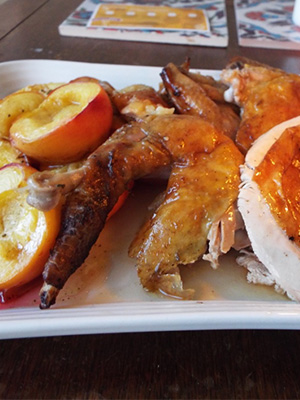 Floyds Food: Guinea fowl with peaches