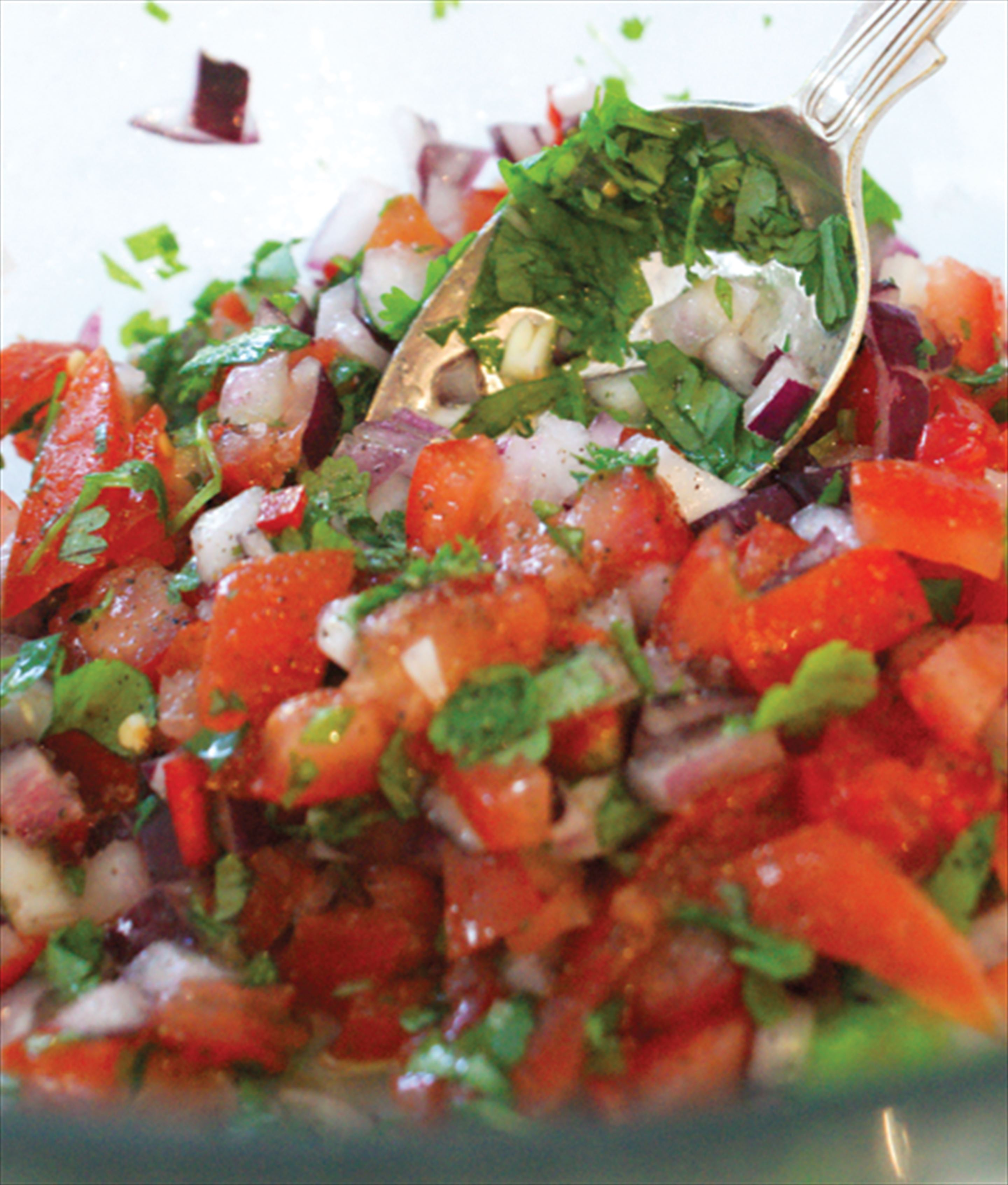 Mexican spicy tomato salsa