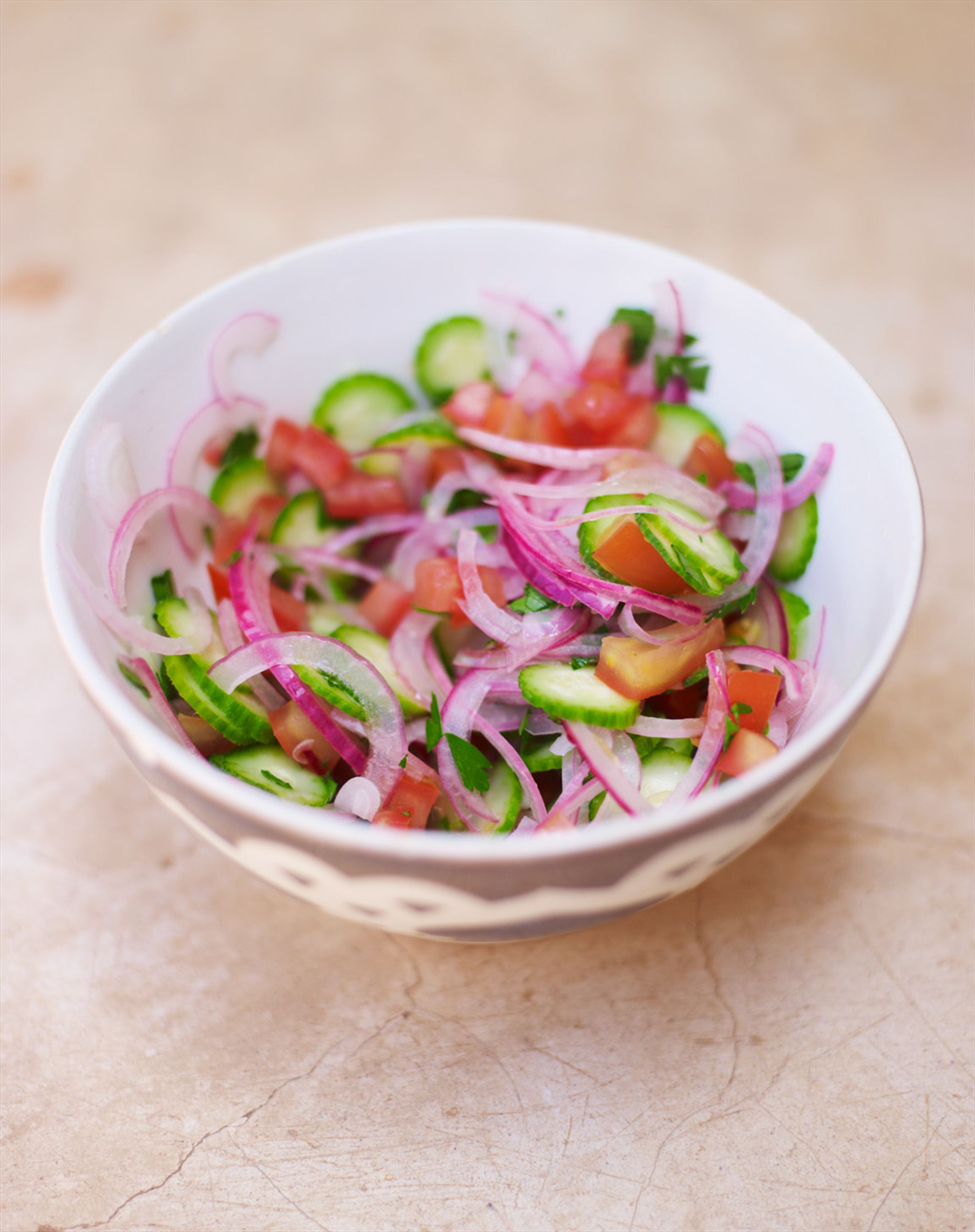 Chopped tomato & cucumber salad