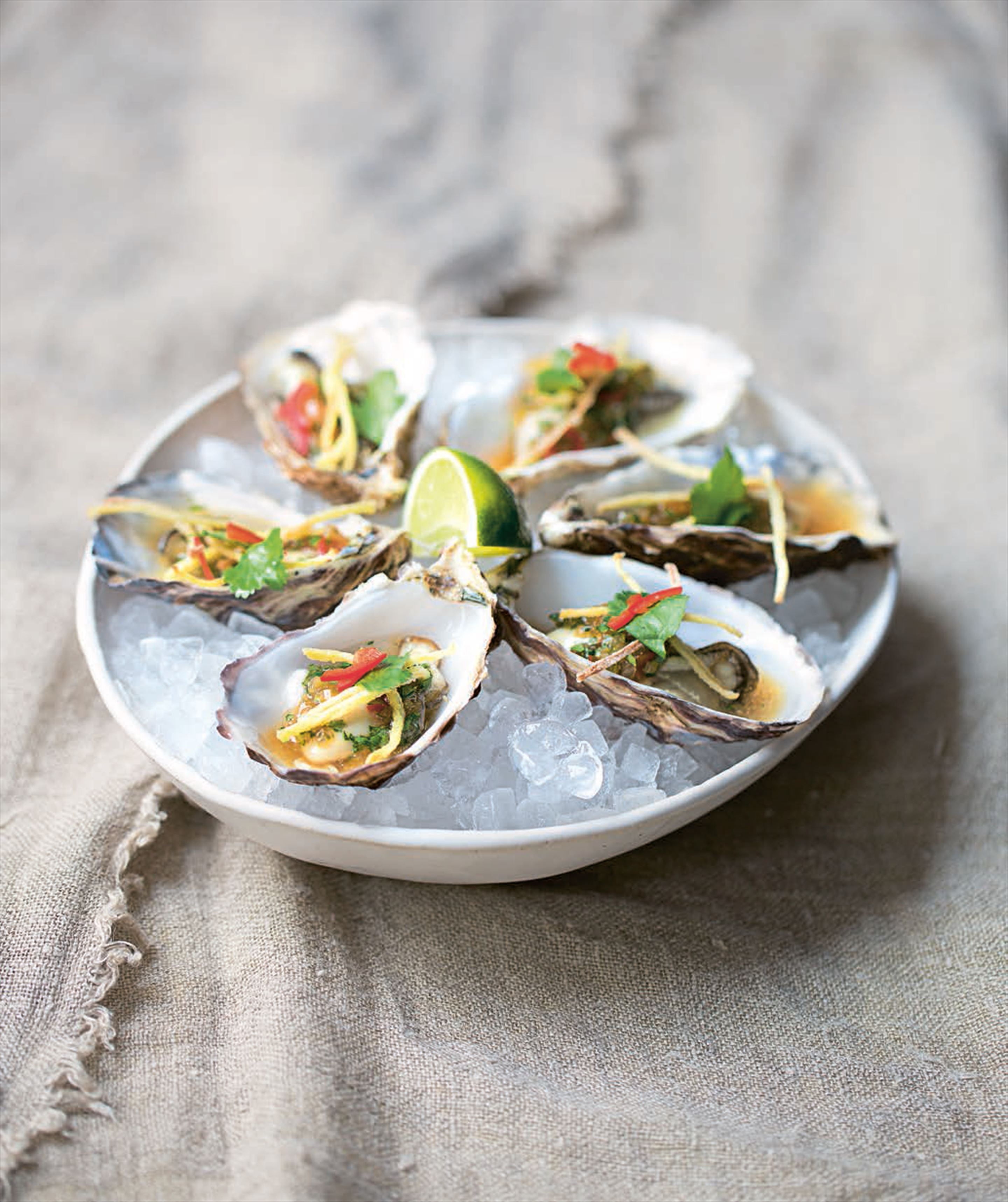 Fine de claire oysters with Vietnamese dressing