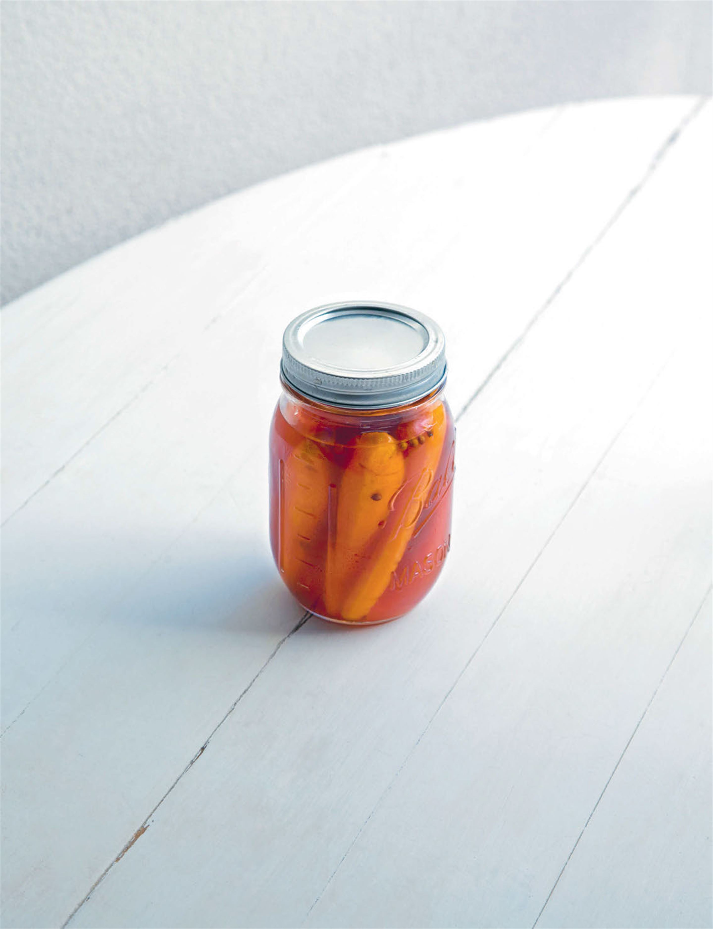Hot sauce pickled carrots