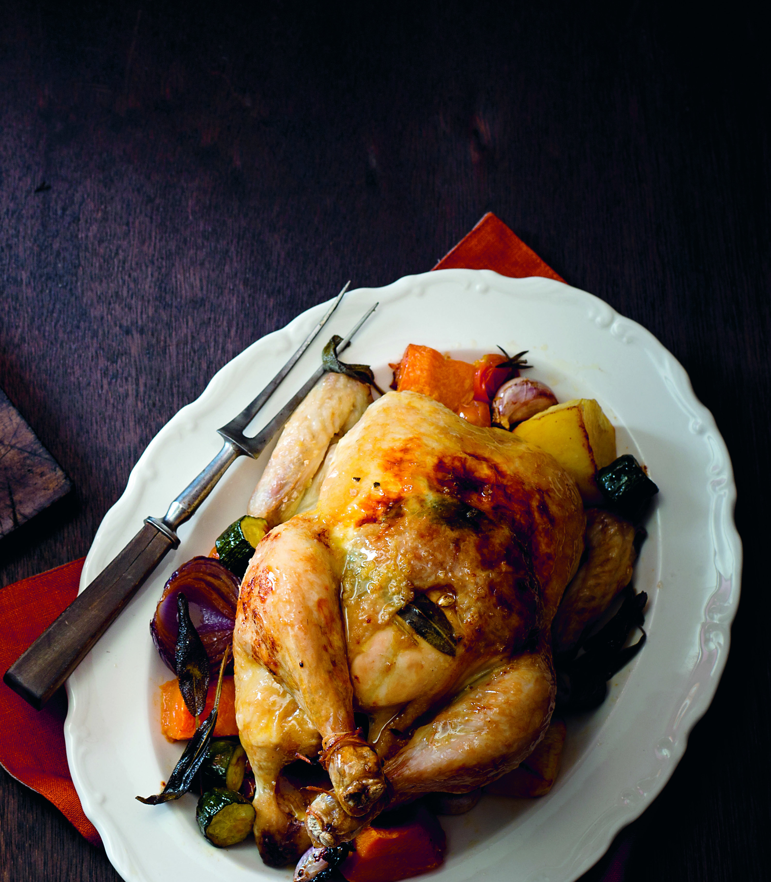 Simple roast chicken, the Stefano way