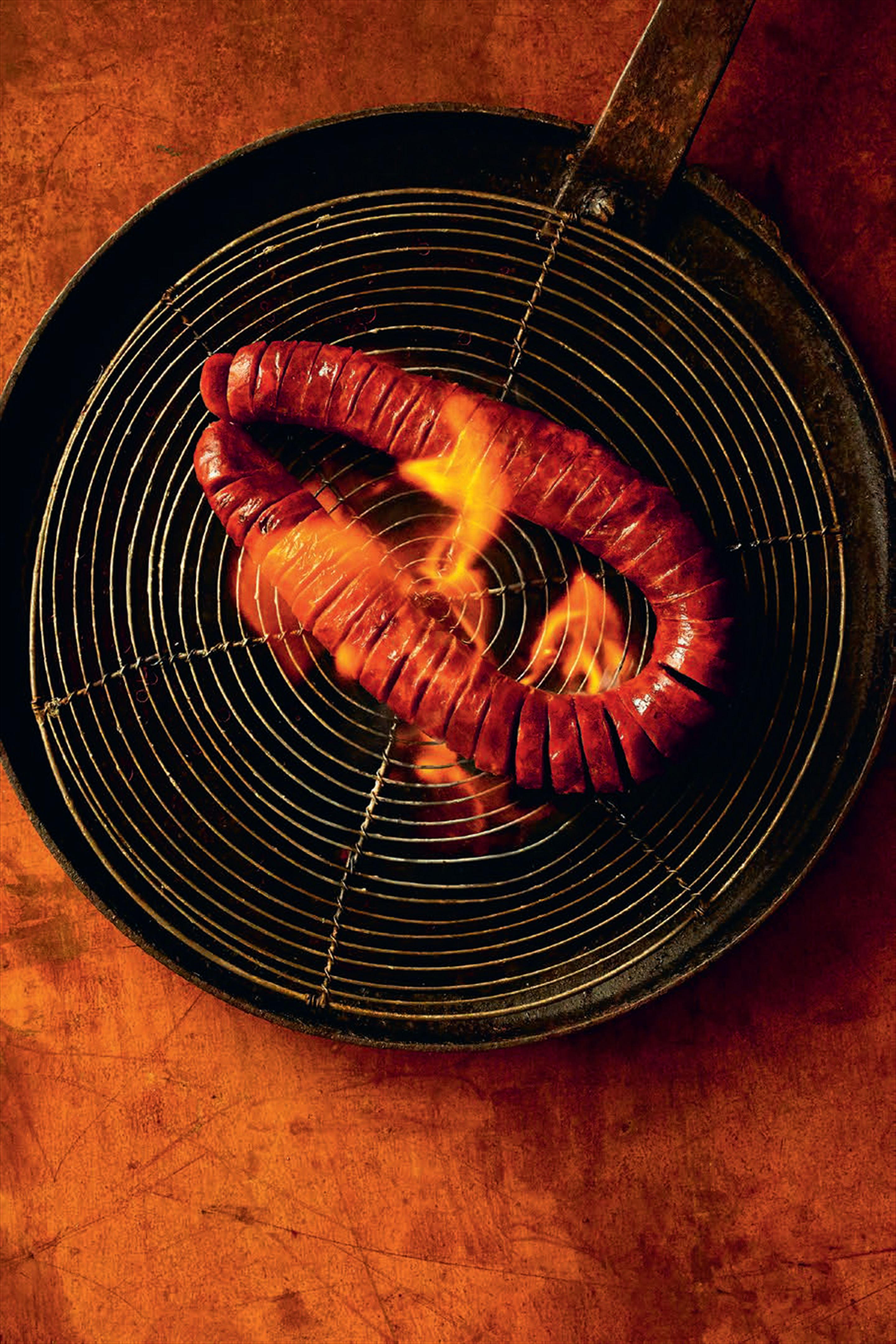 Flaming chorizo