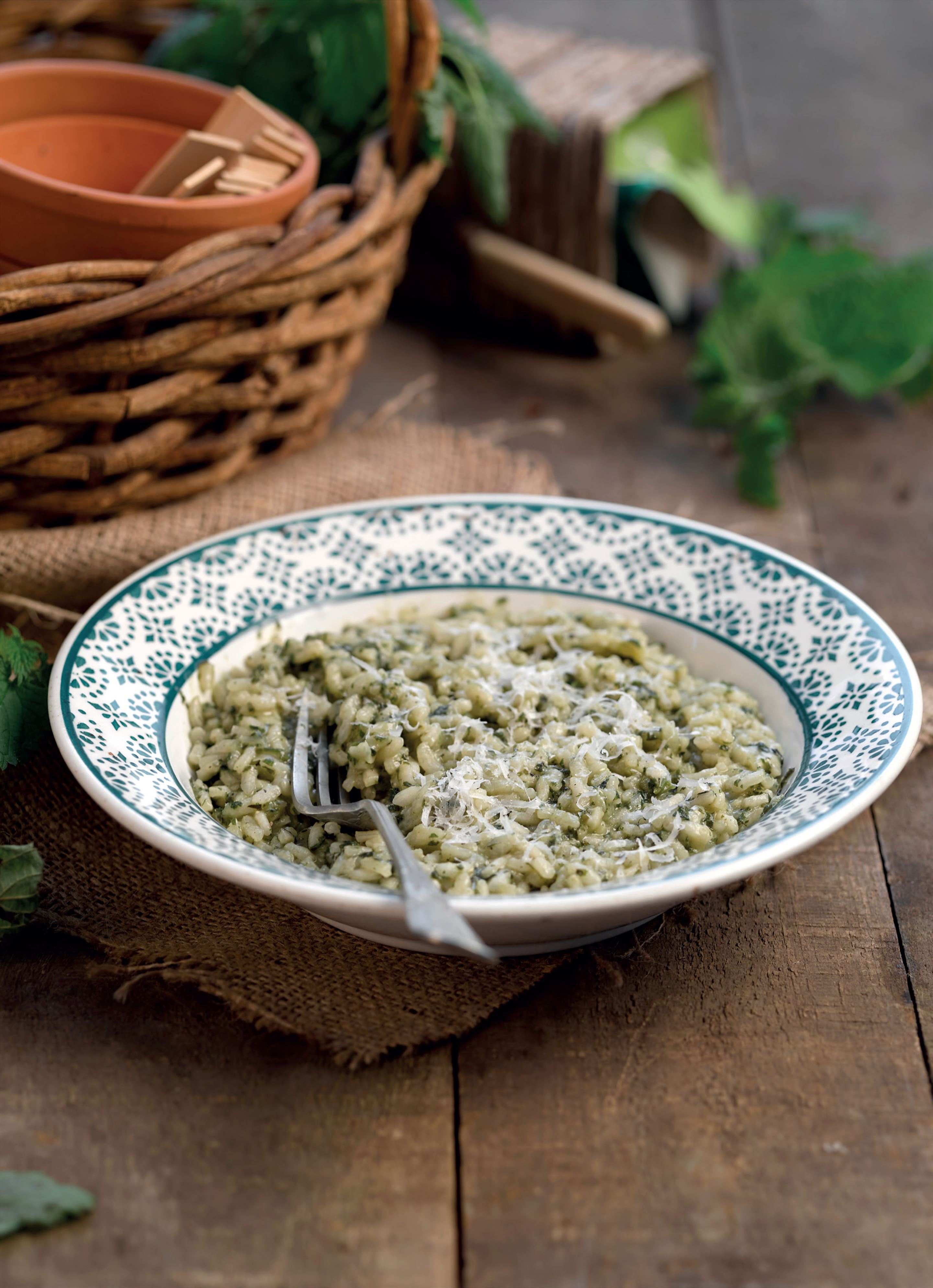 Nettle risotto
