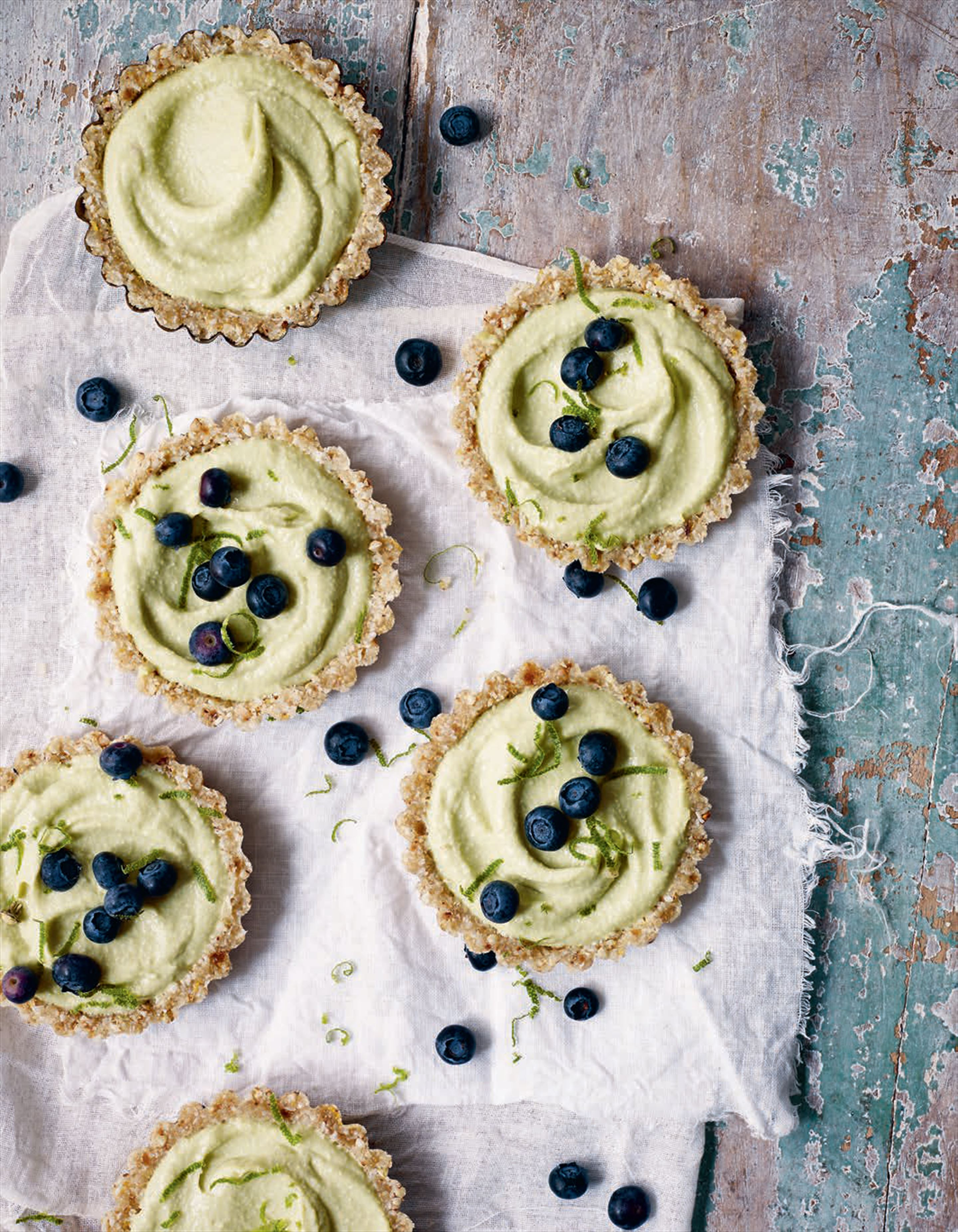 Raw lemon and lime curd tartlets
