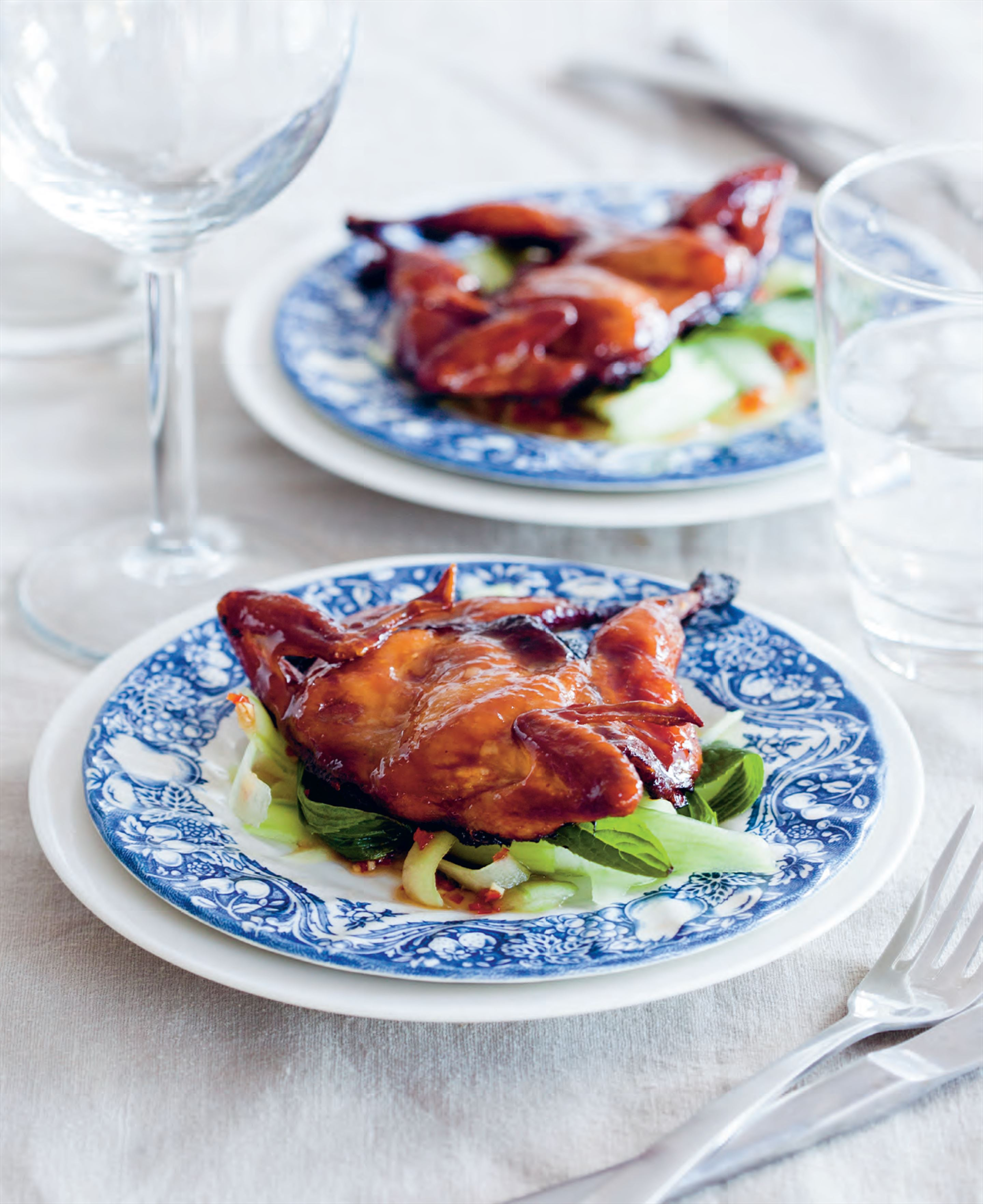 Barbecued spiced quail