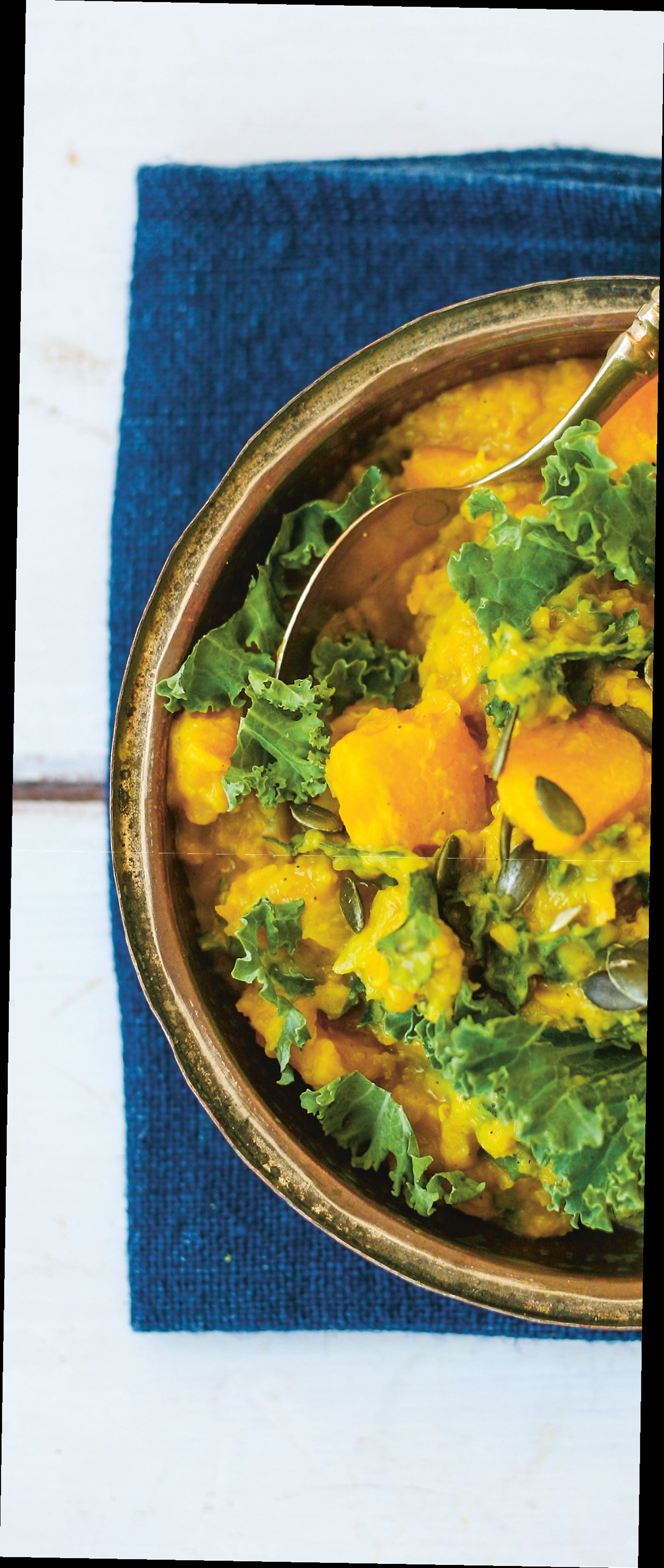 Red lentil, squash & coconut dhal