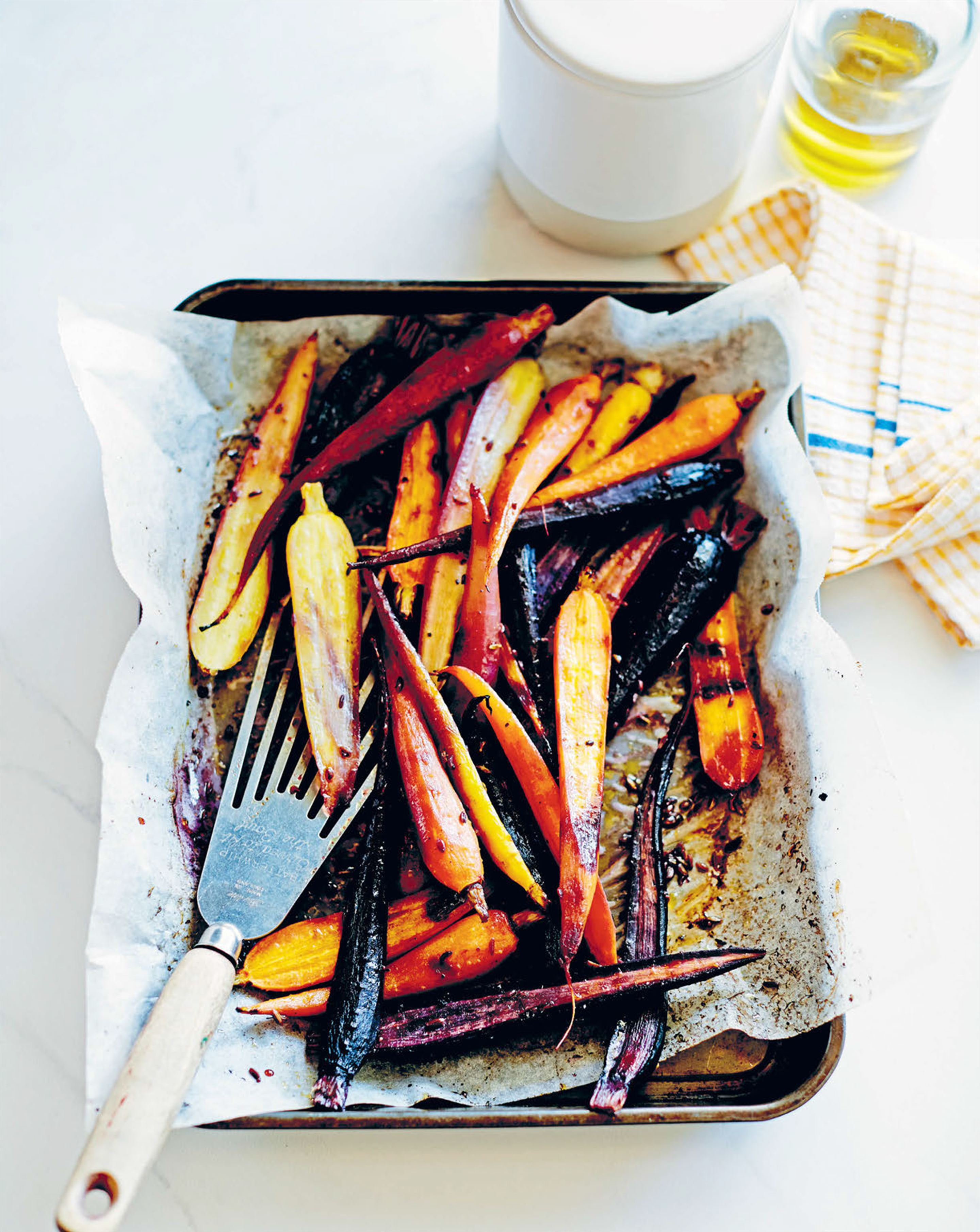 Heirloom carrots with fennel and orange dressing