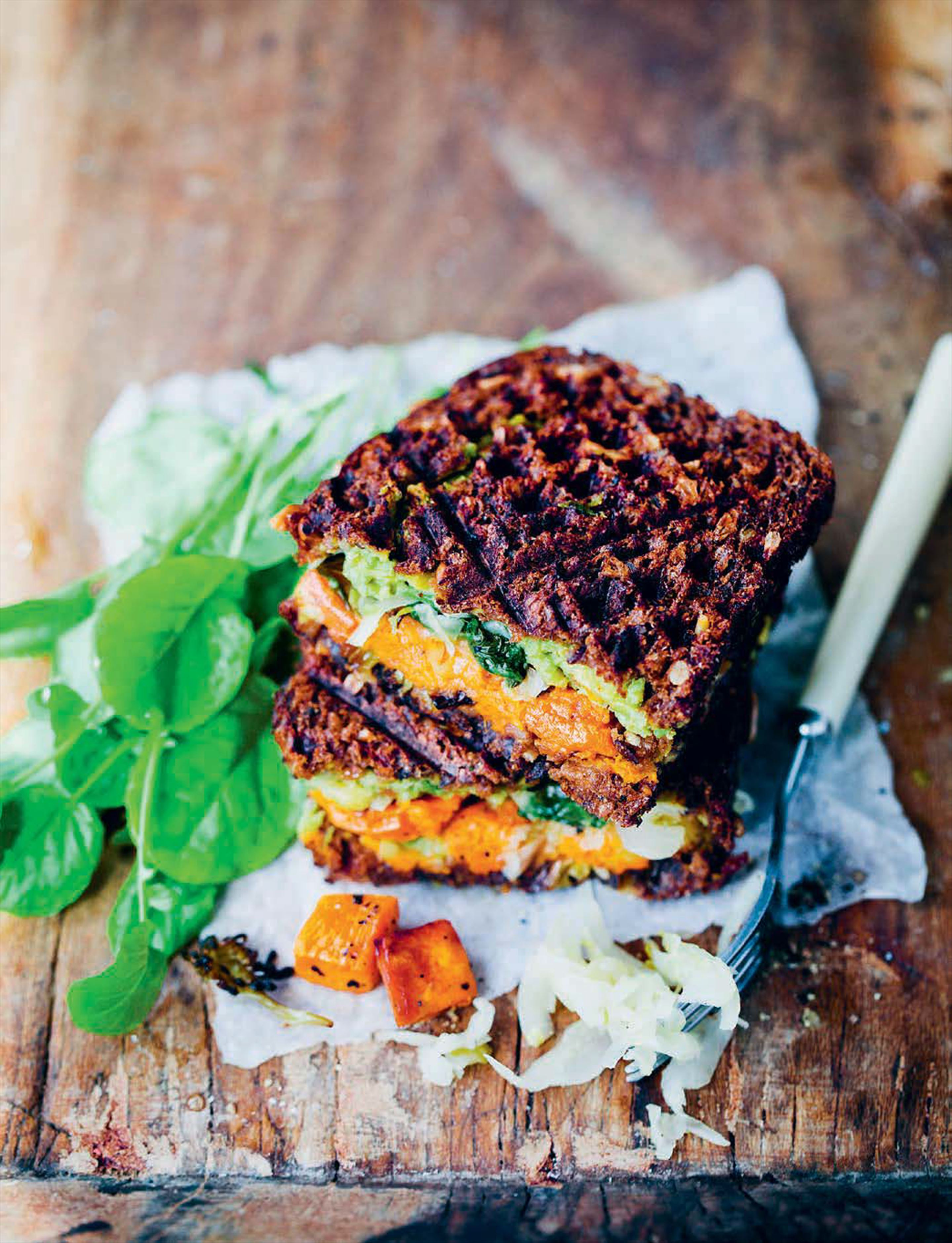 Roasted Root and Rye Waffle Toastie