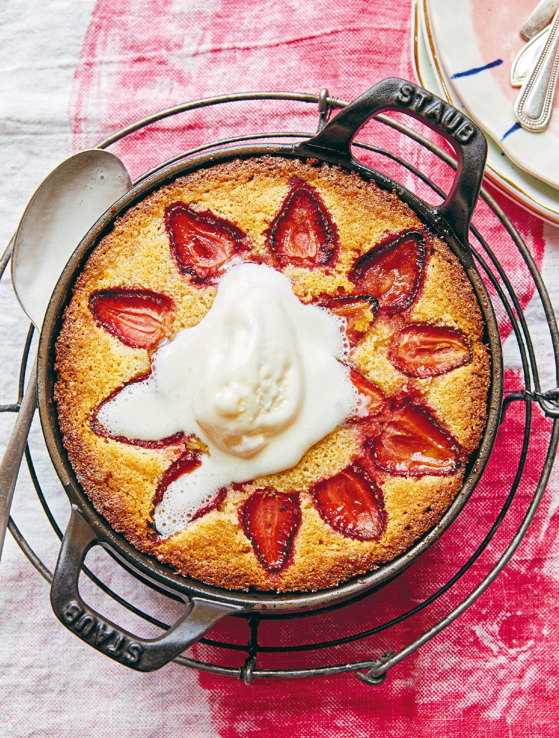 Strawberry frangipane tart