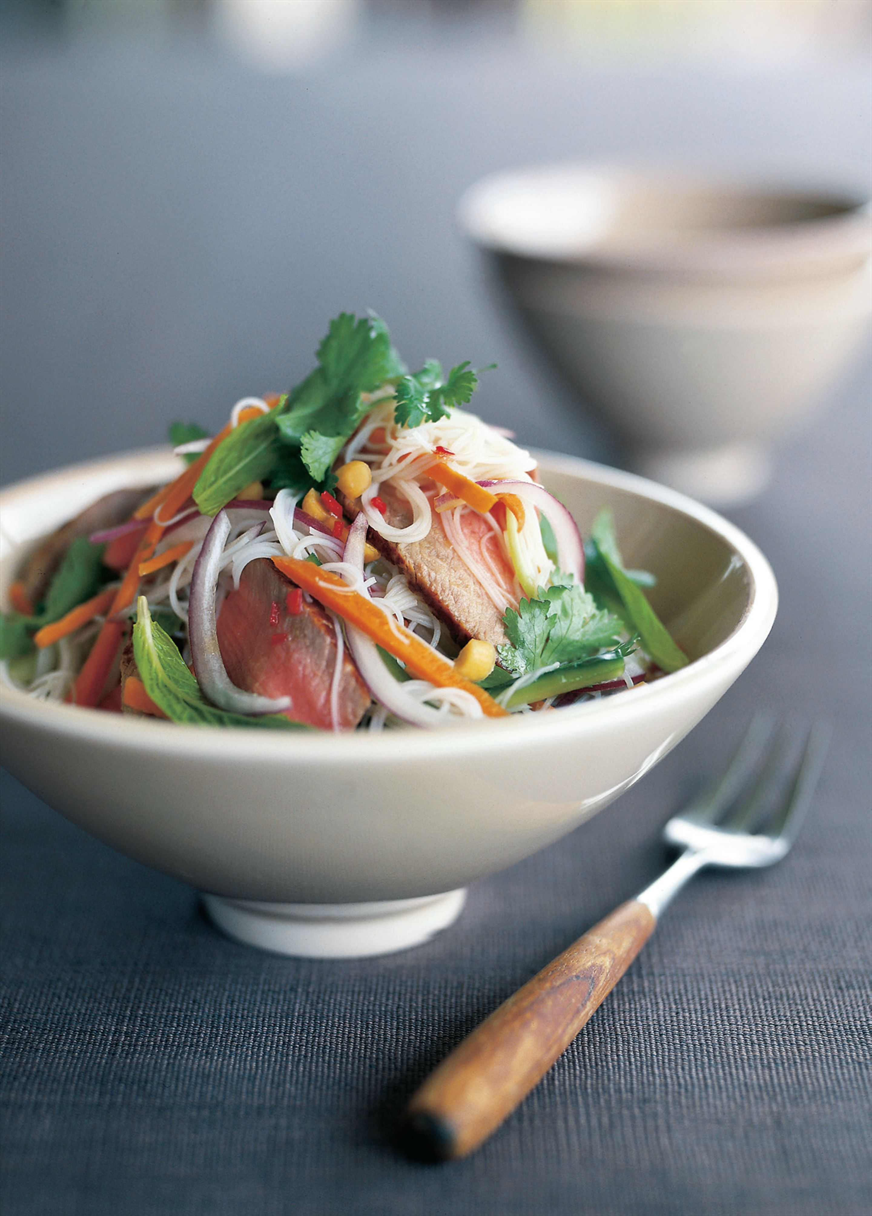 Beef and vermicelli noodle salad