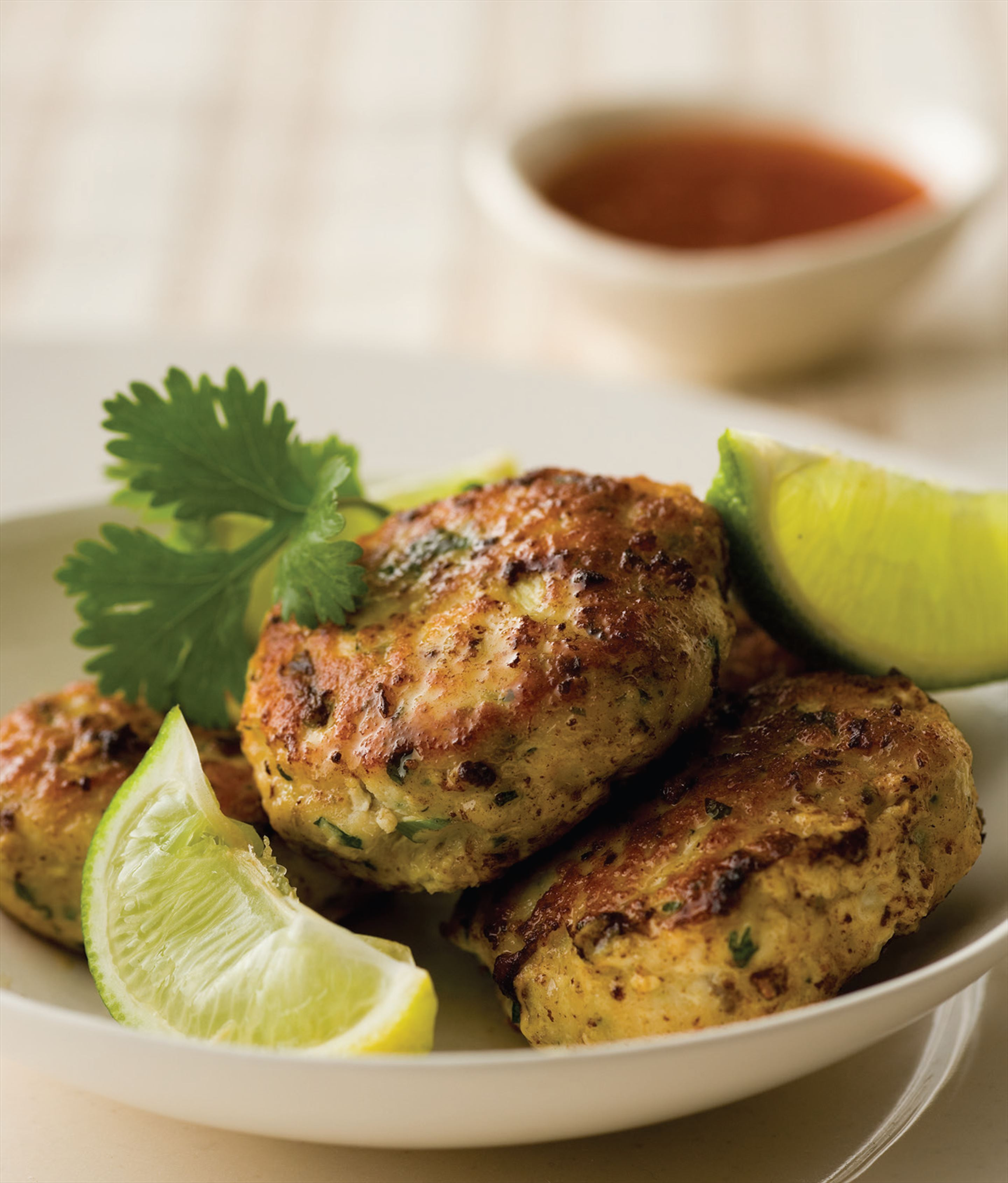 Fragrant Thai fish cakes and a green salad