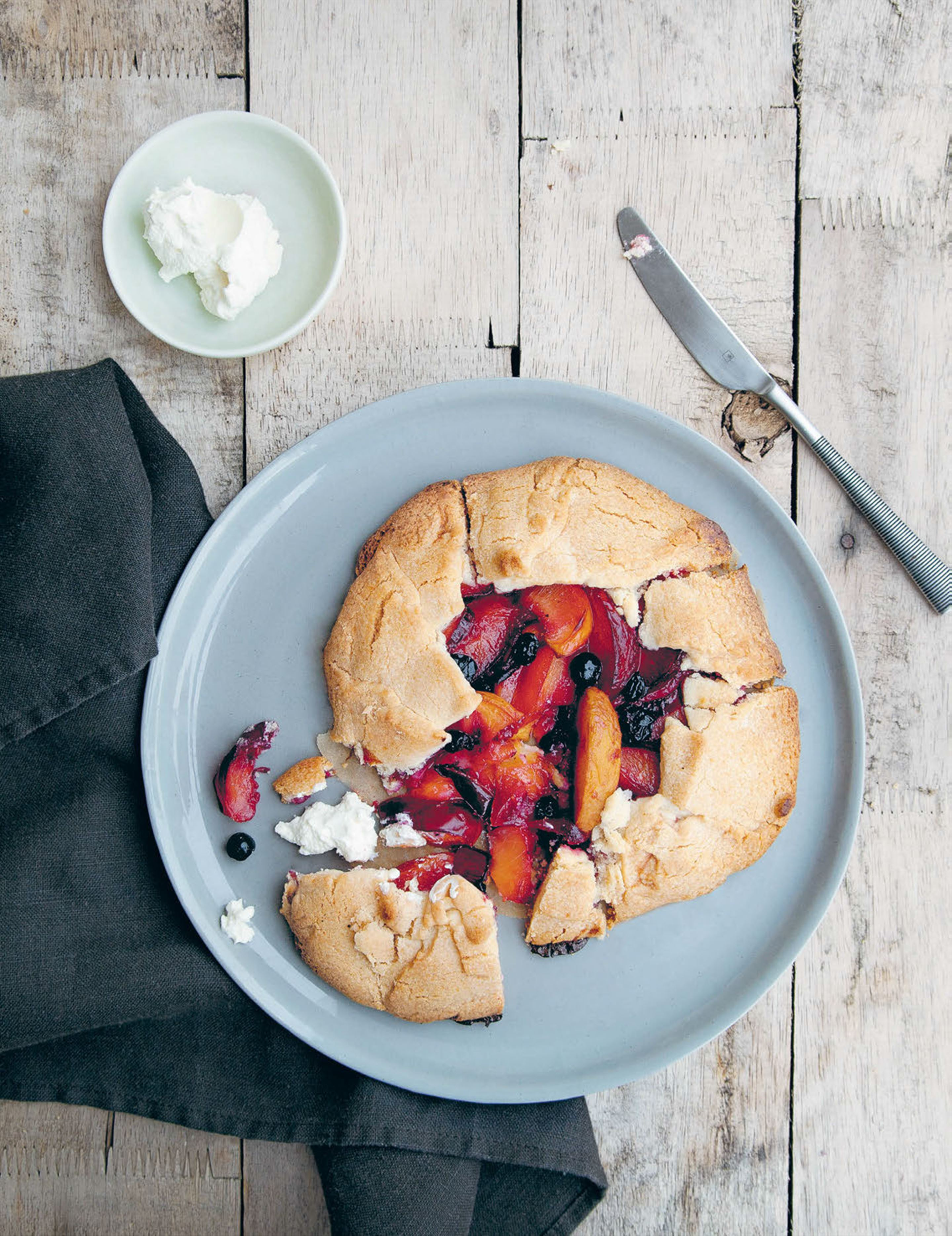 Morning fruit galette