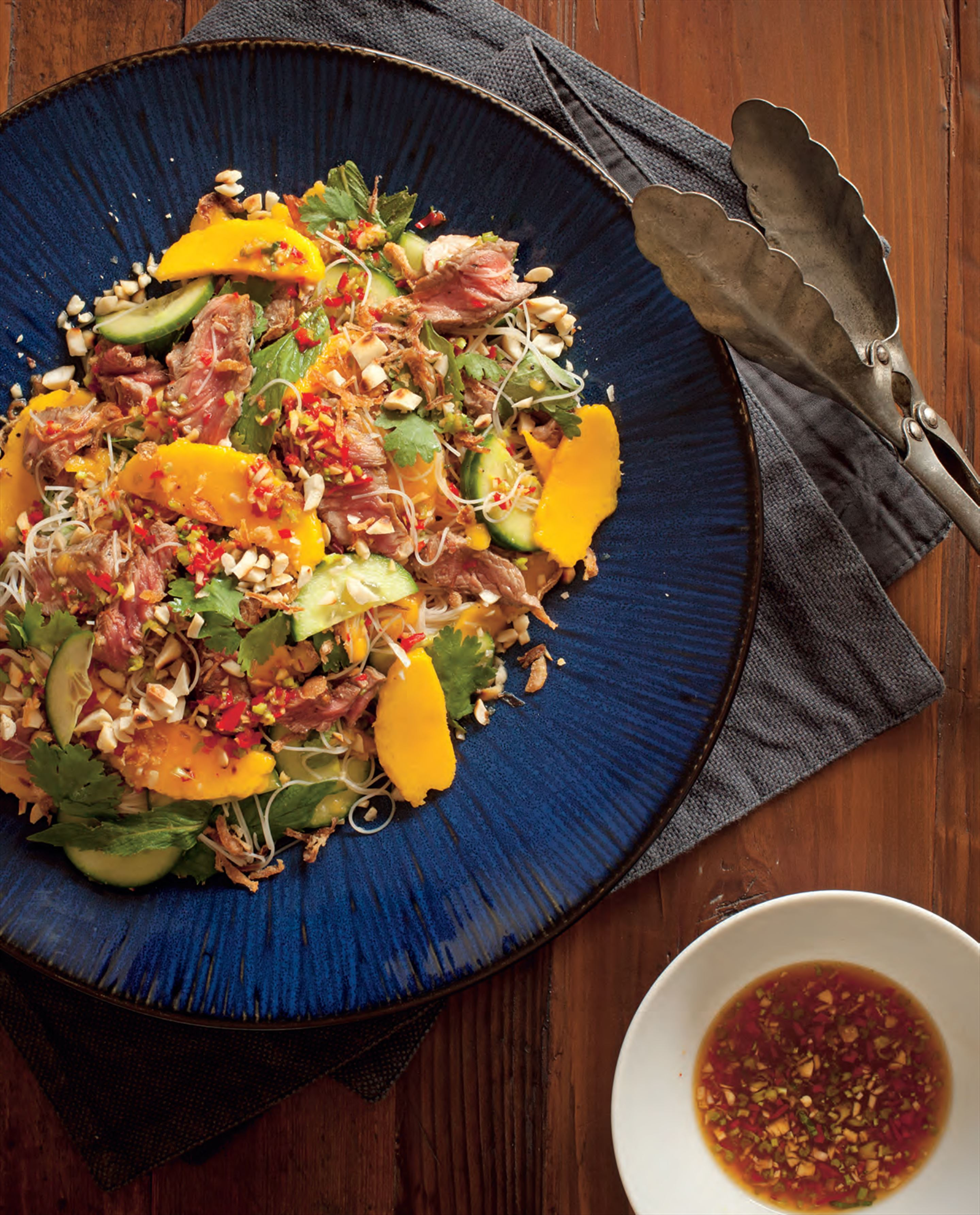 Thai beef mango salad with nam jim dressing