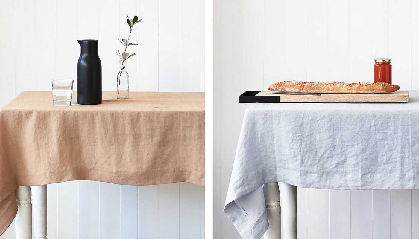 Montauk tablecloth linen