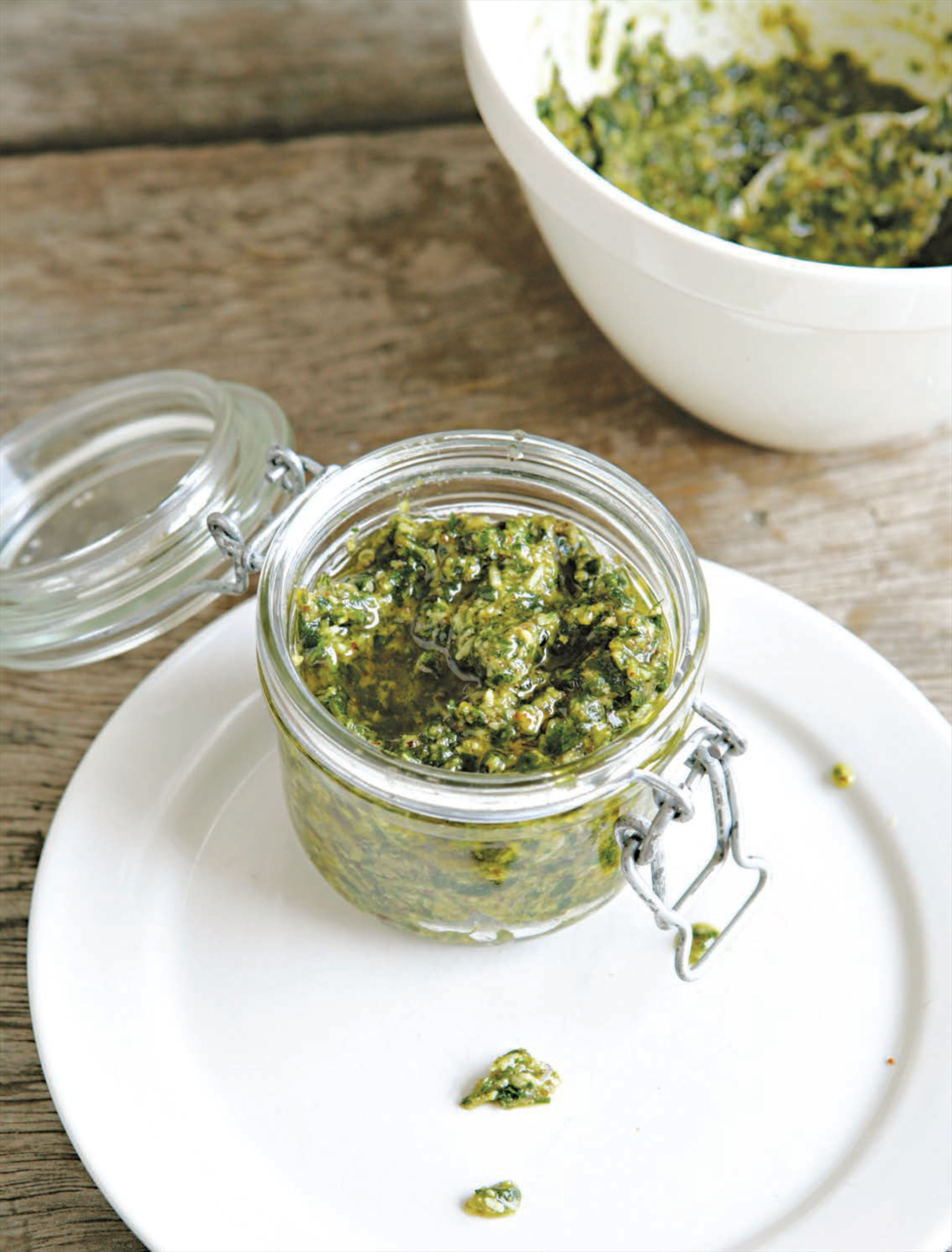 Parsley and pumpkin seed pesto