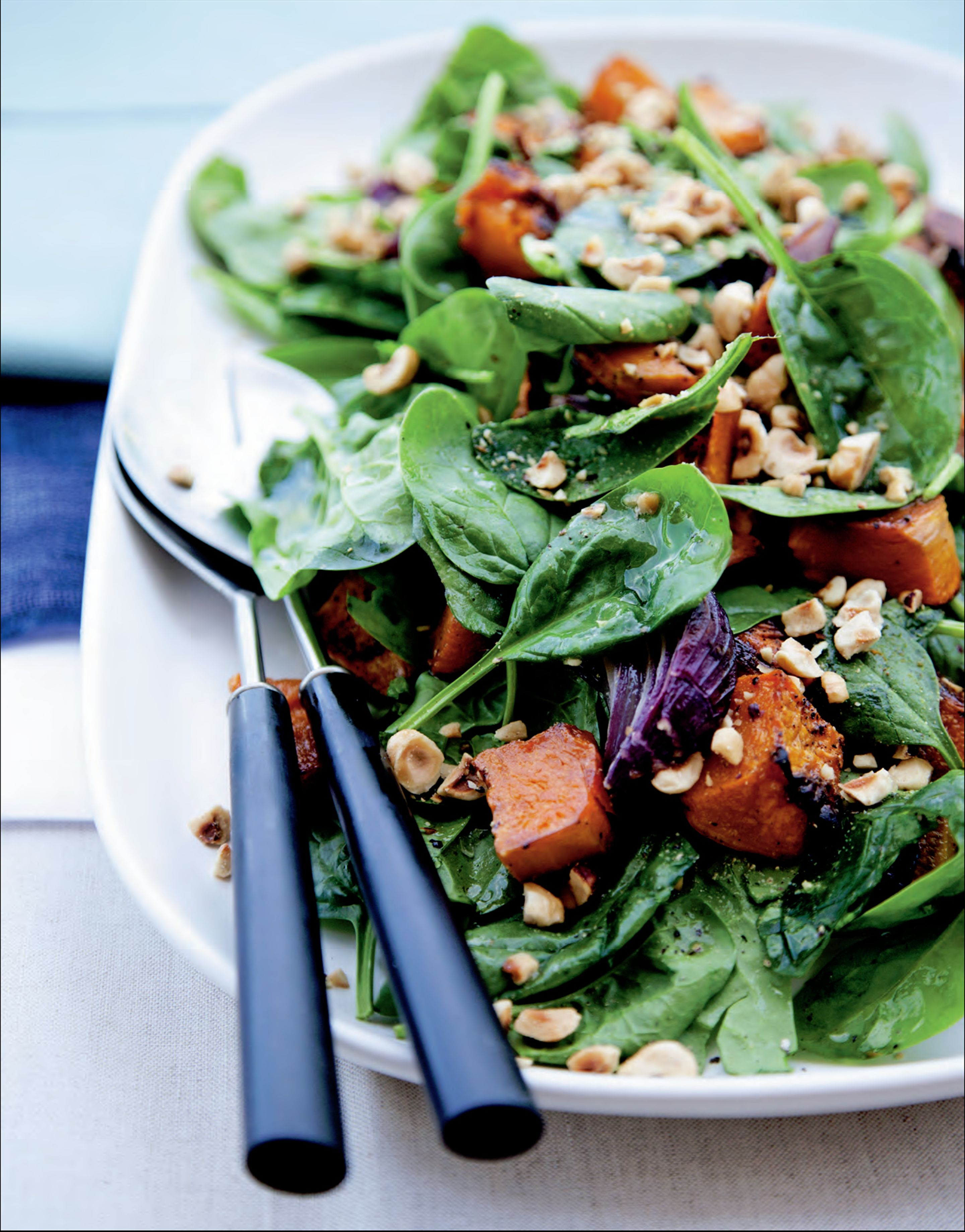 Roasted pumpkin and hazelnut salad