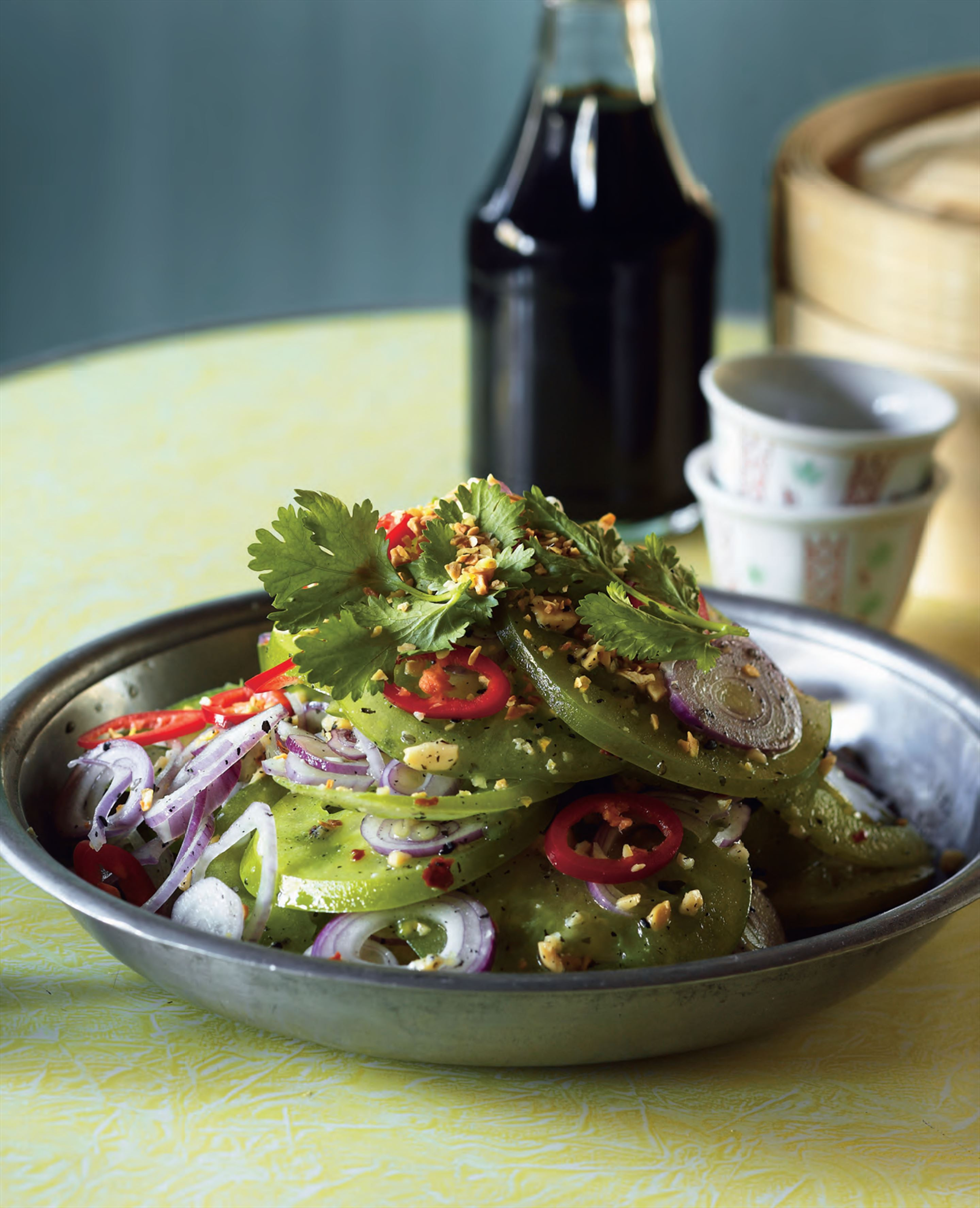 Inle Lake green tomato salad