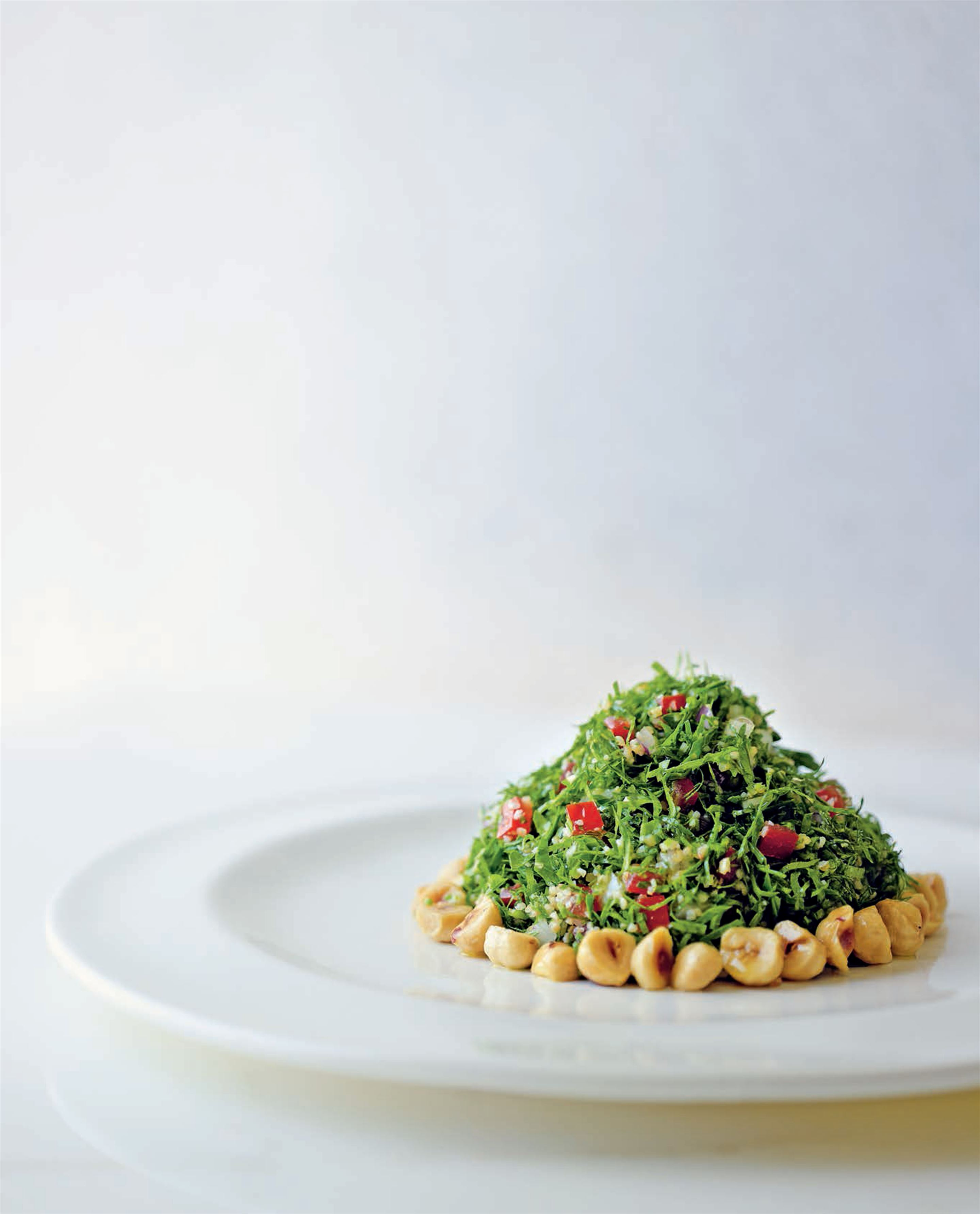Tabbouleh with roasted hazelnuts
