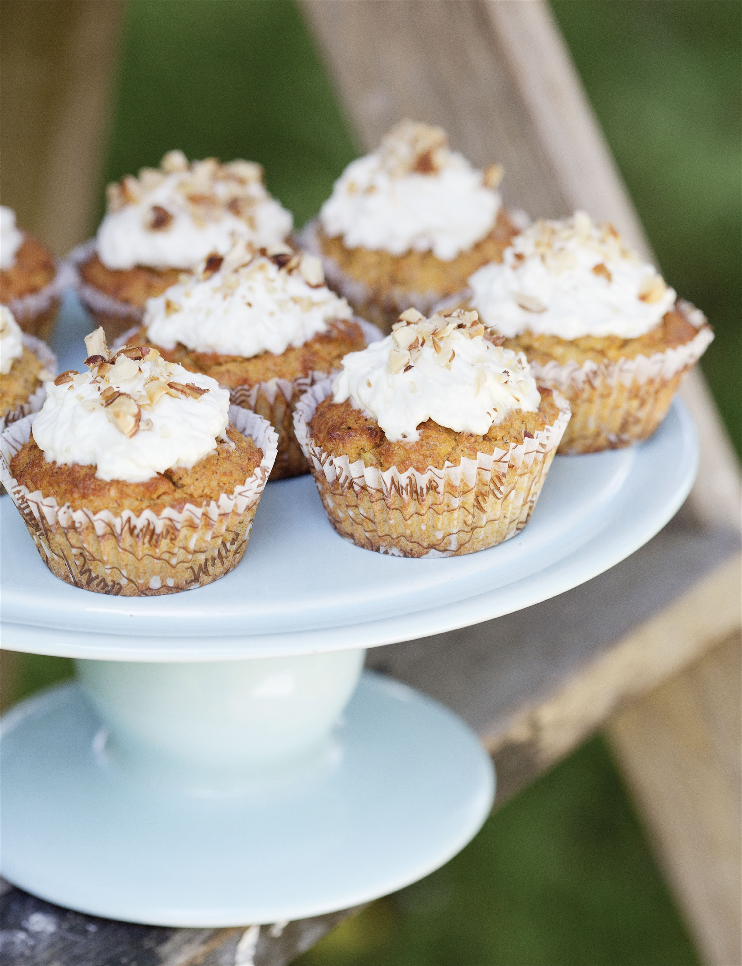Carrot, coconut and banana cupcakes