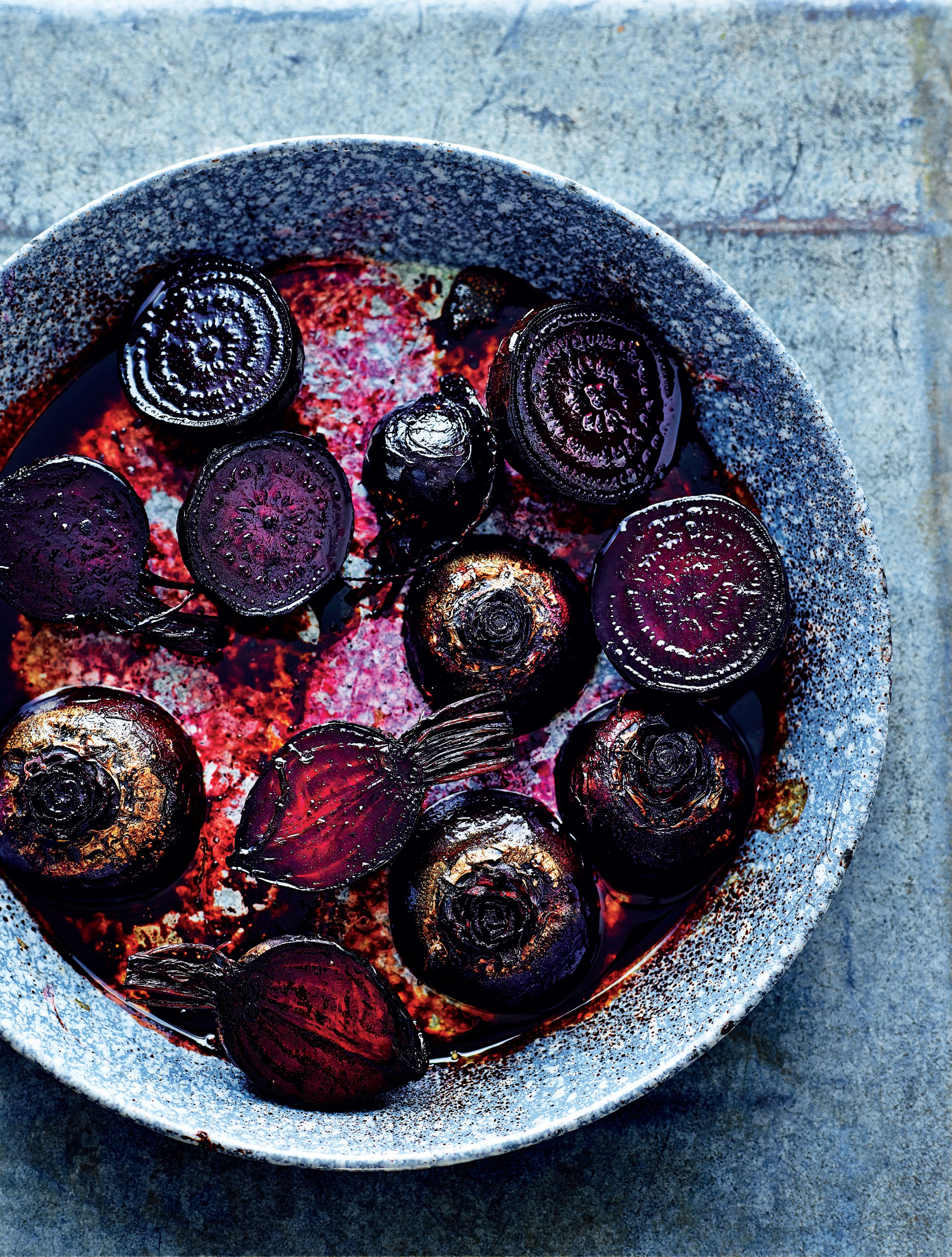 Beet balsamic bake with sweet potato topping