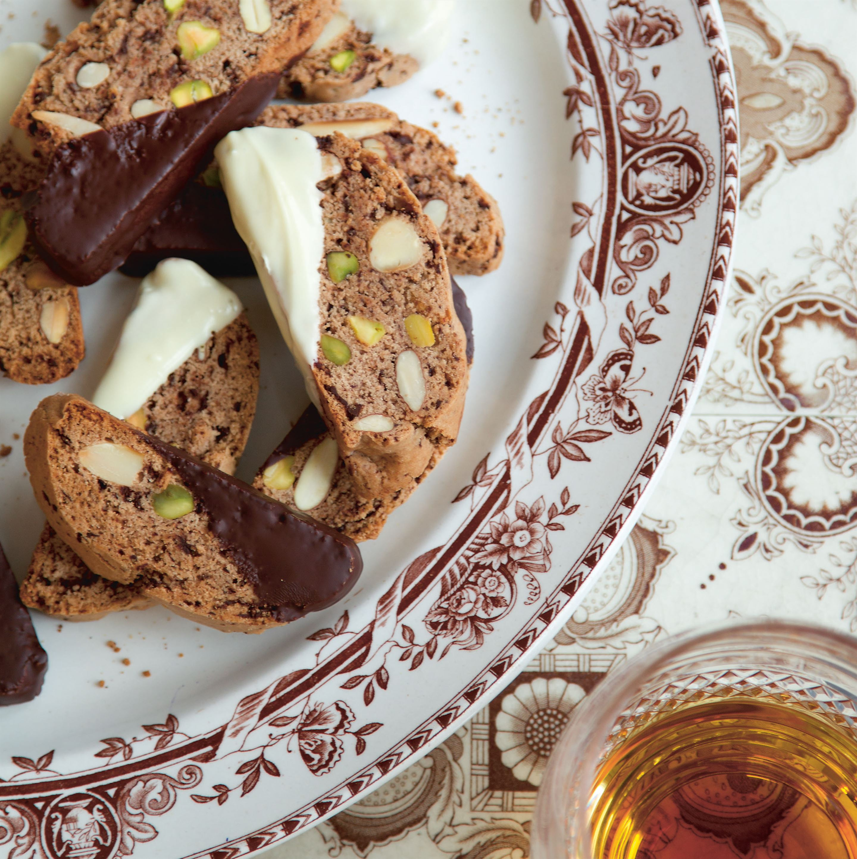 Pistachio and almond cantuccini