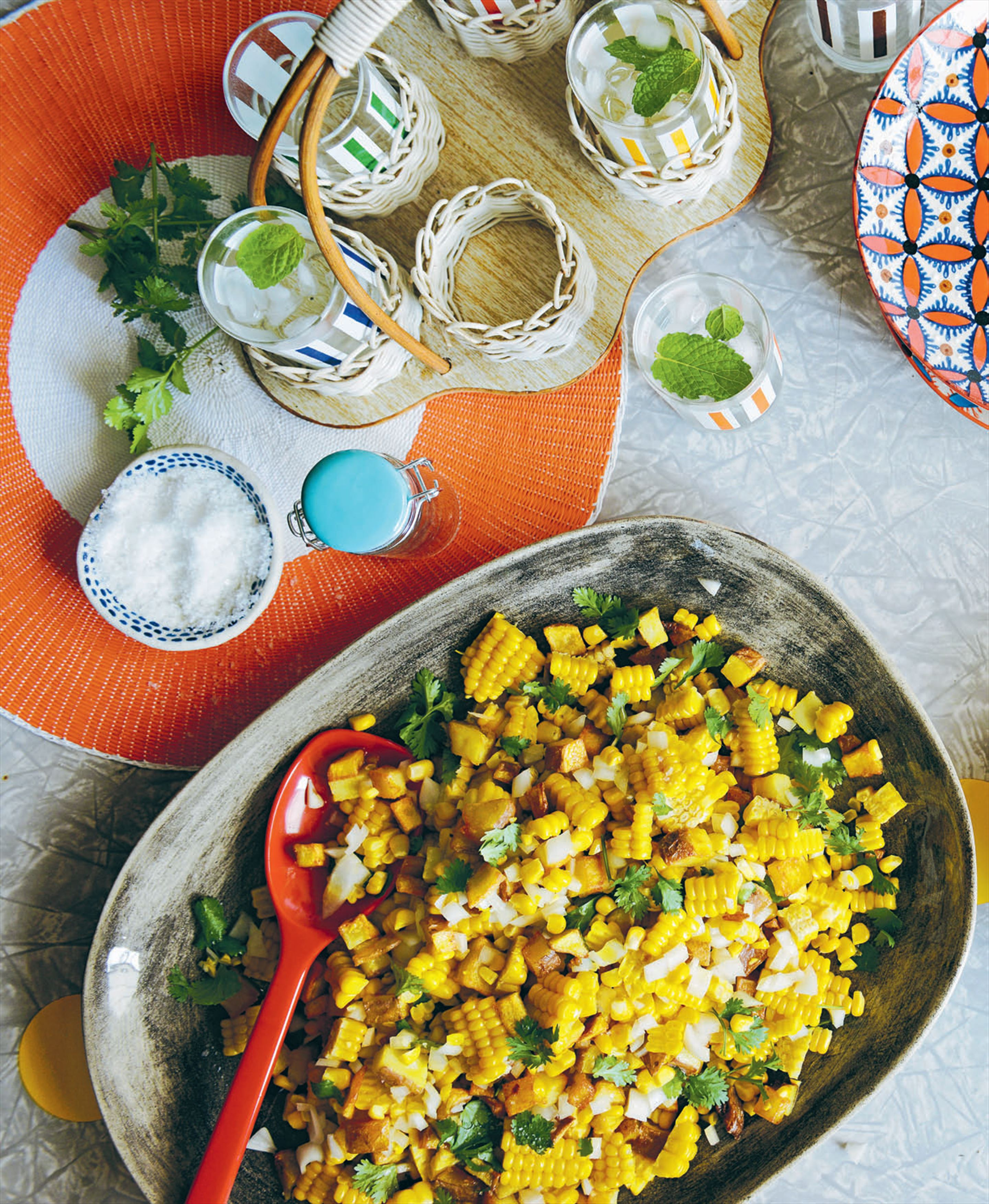 Potato and corn salsa