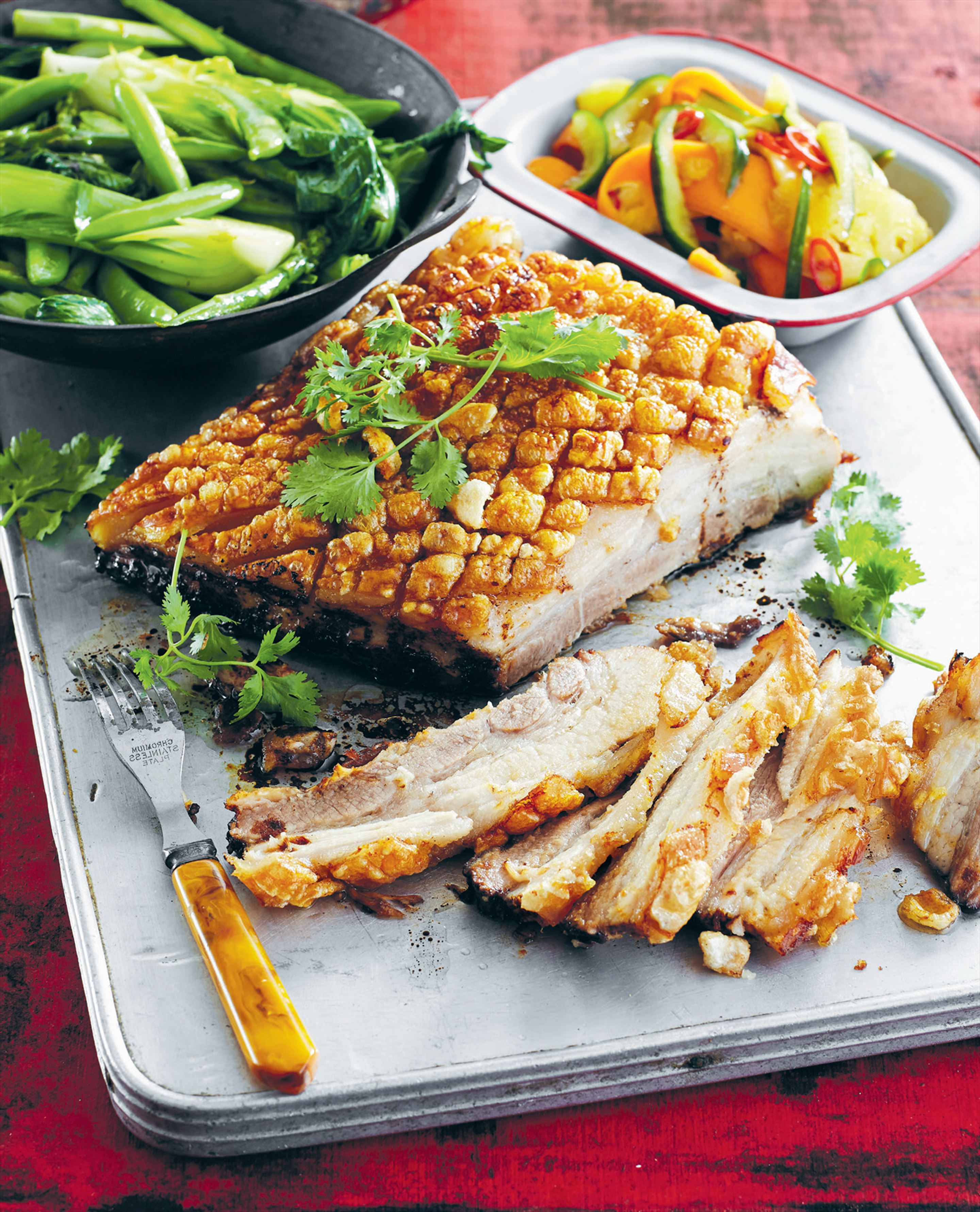 Peking pork belly with pineapple pickle