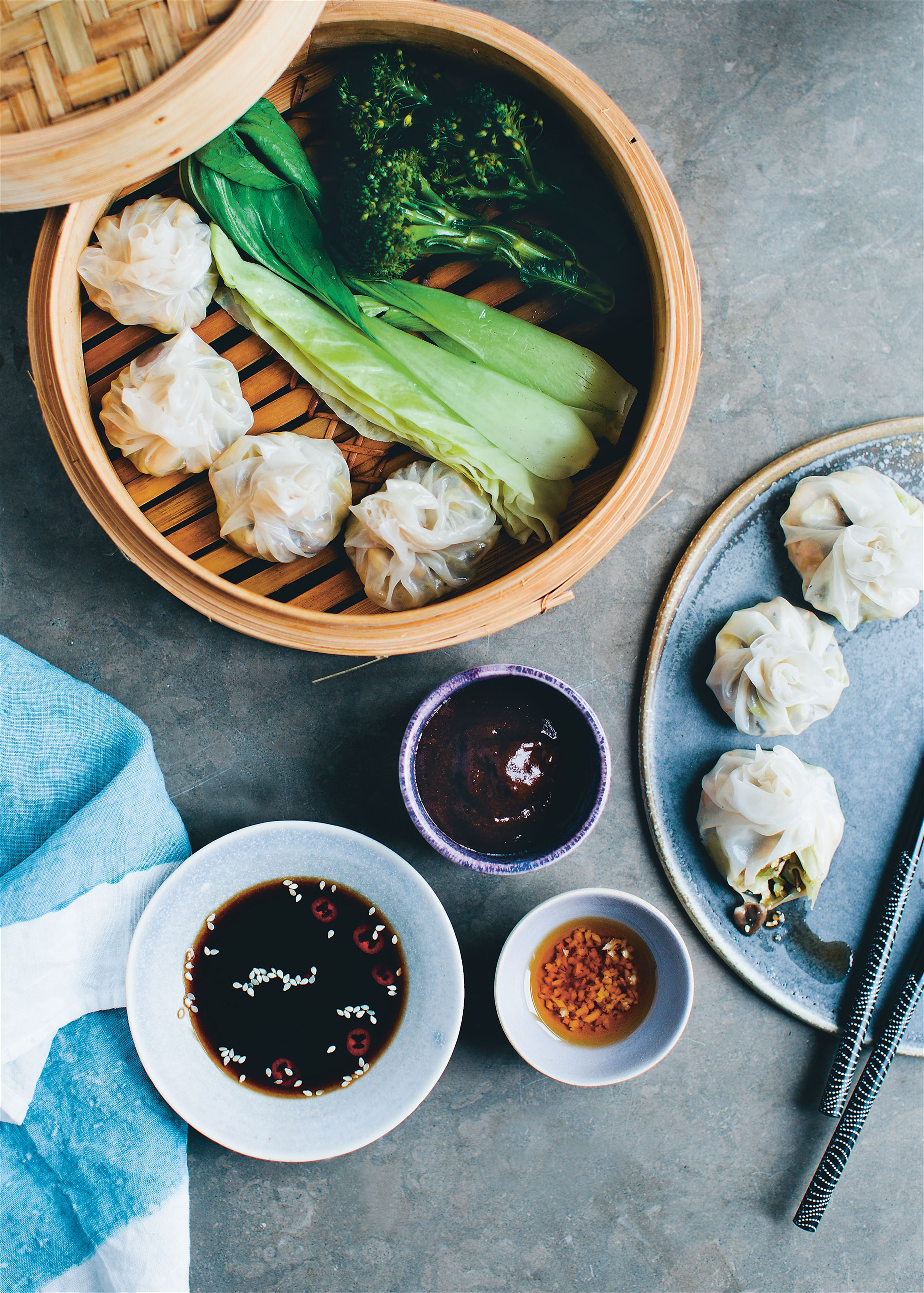 Mushroom and tofu dumplings