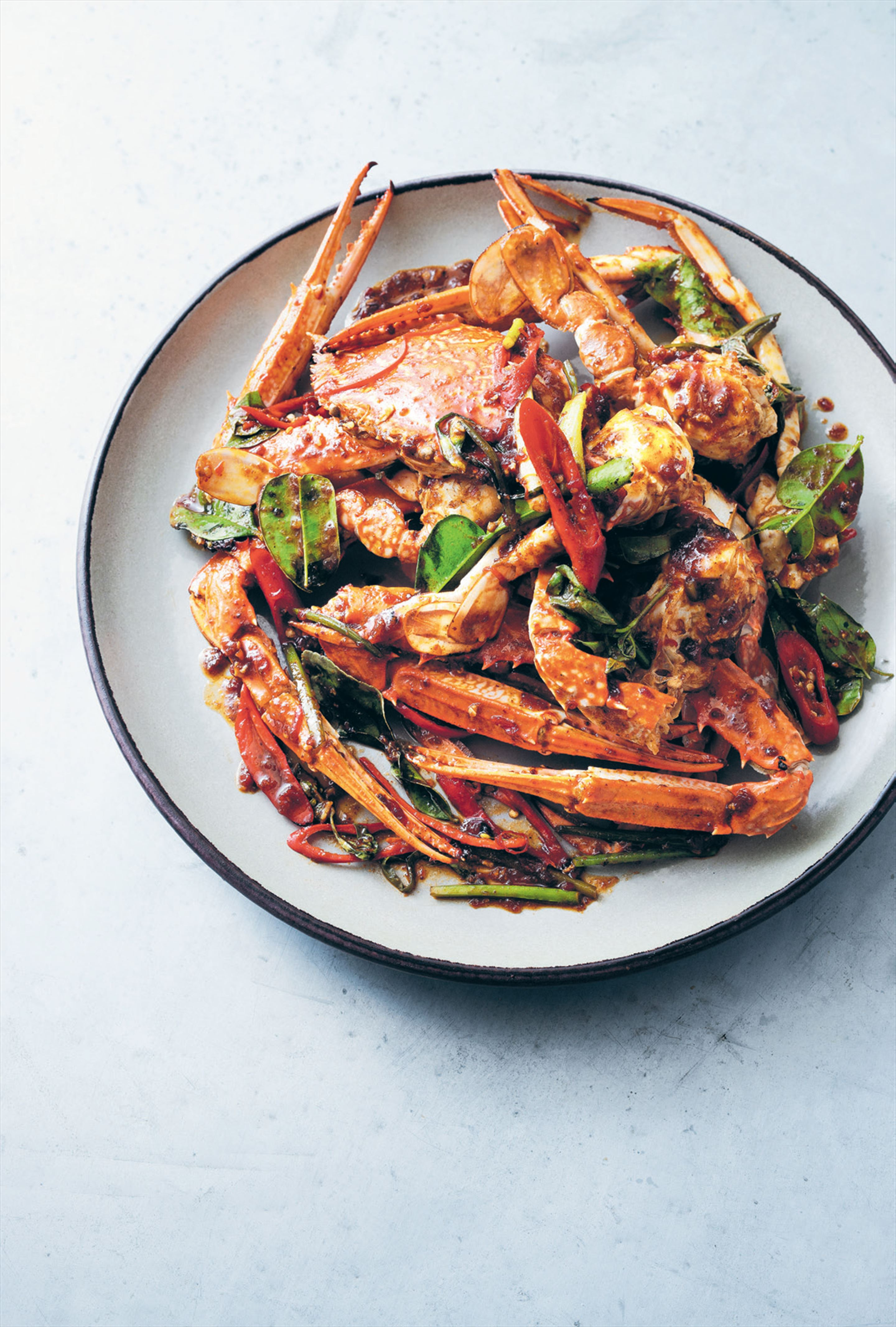 Stir-fried blue swimmer crab with chilli jam