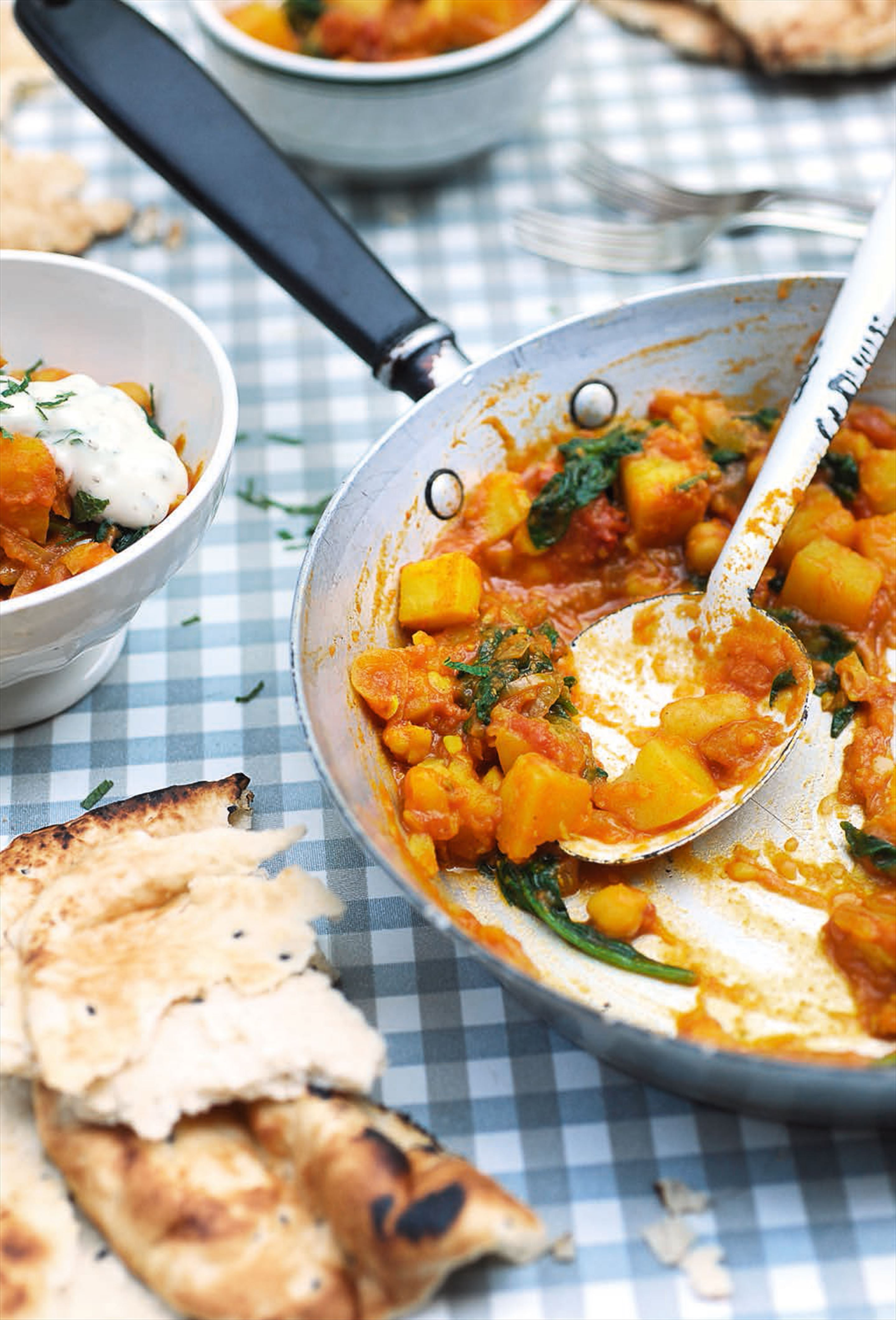 Kid-friendly potato and chickpea curry