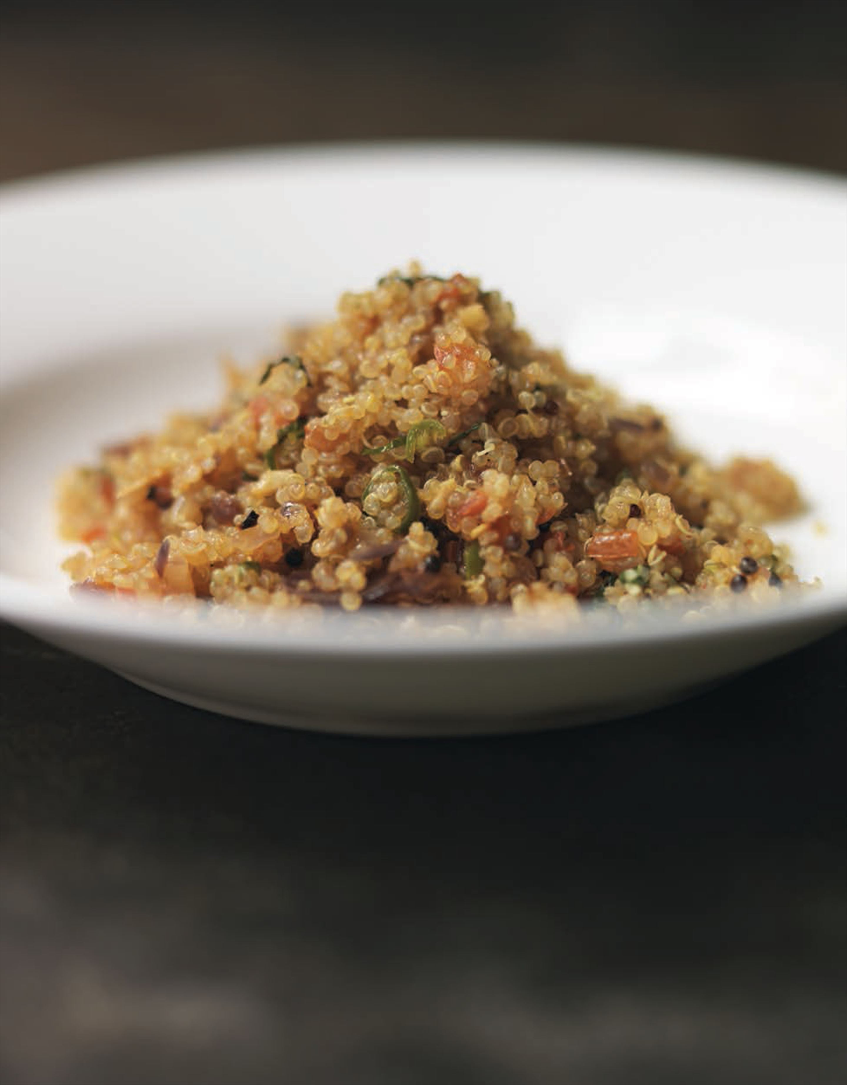 Curry leaf and tomato quinoa